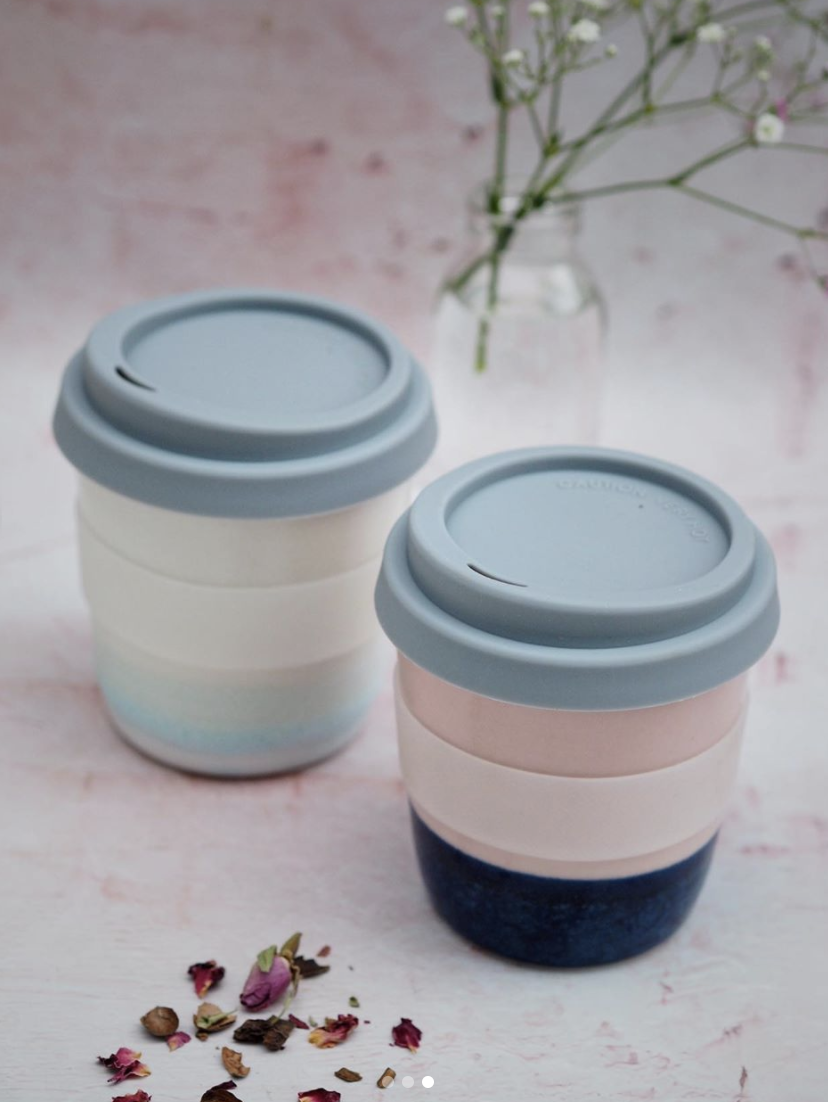 Ceramic Glazed Travel Mug