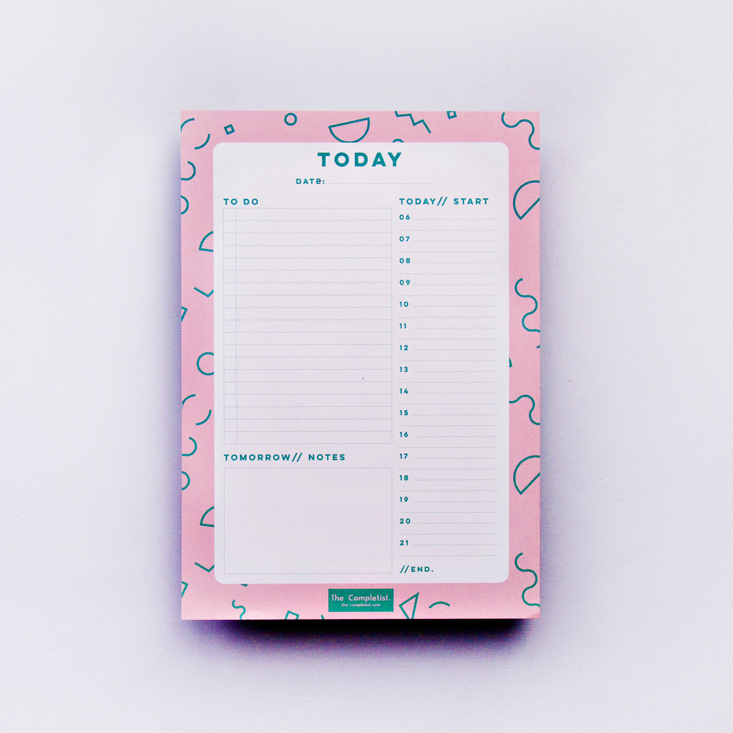 Pink Memphis Daily Planner Pad