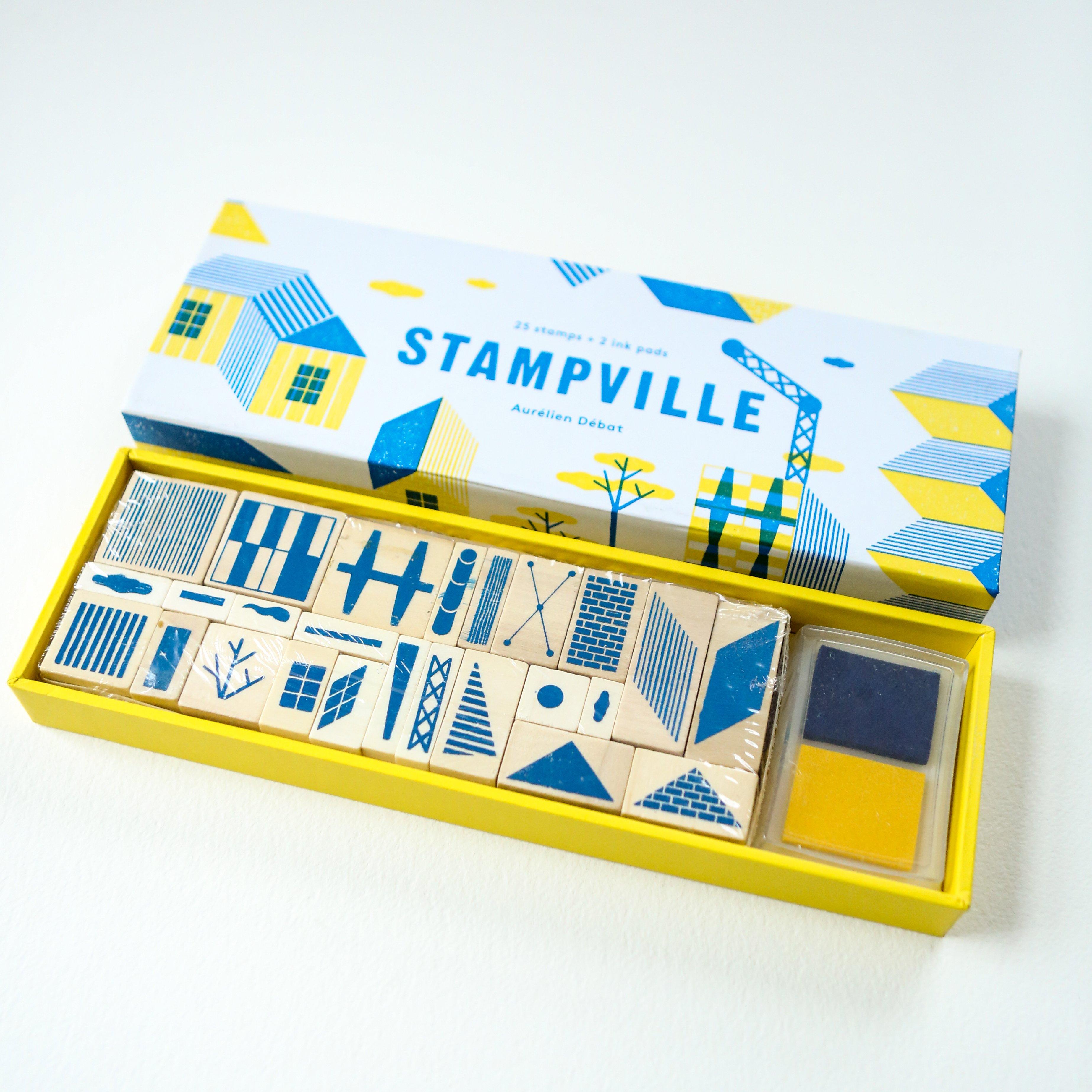 Stampville Rubber Stamp Set