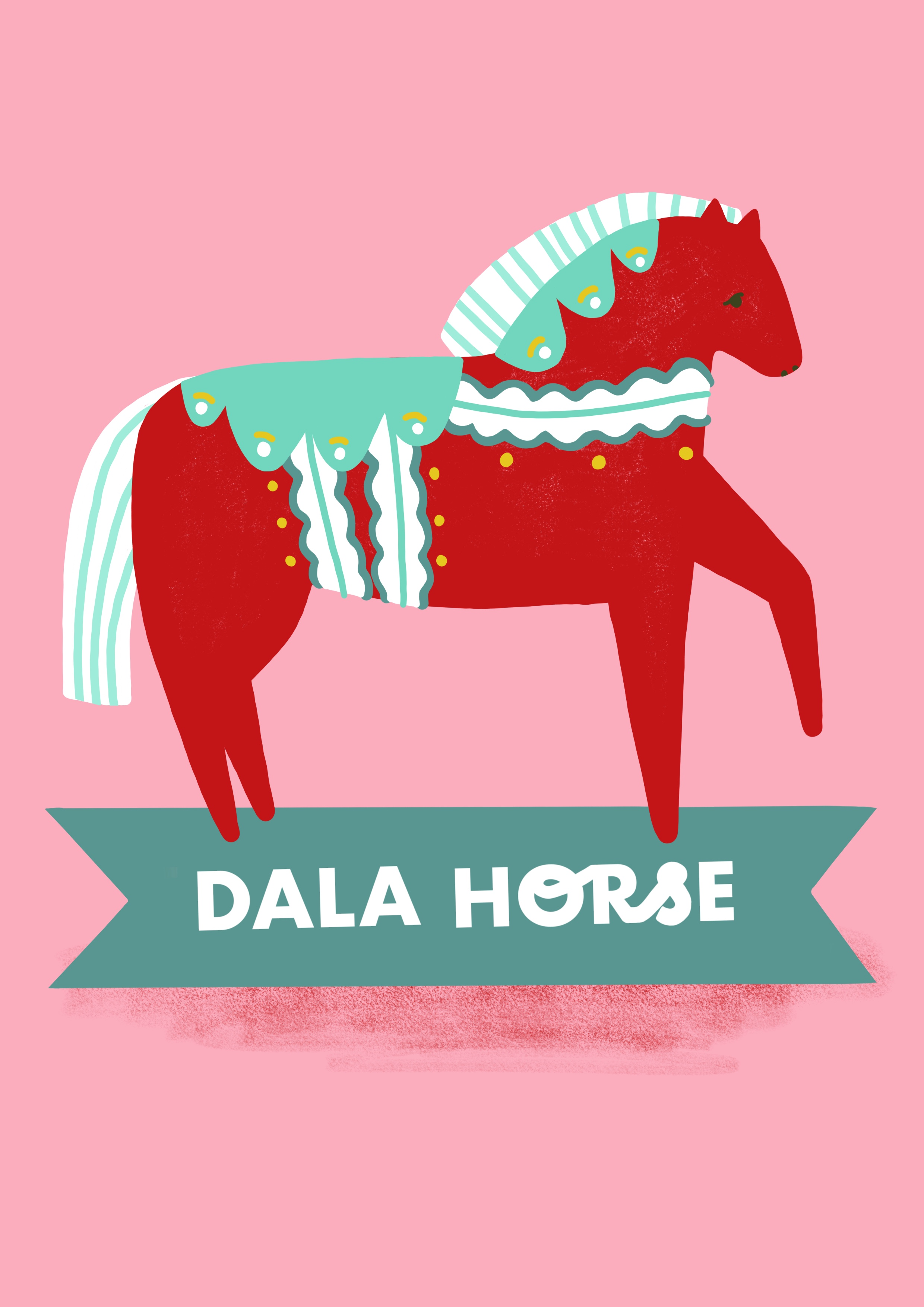 Dala Horse A4 Print