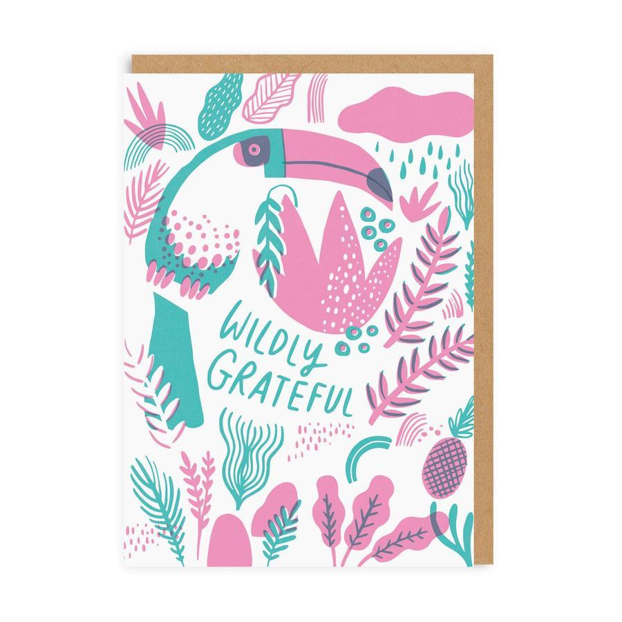 Wildly GratefulGreeting Card