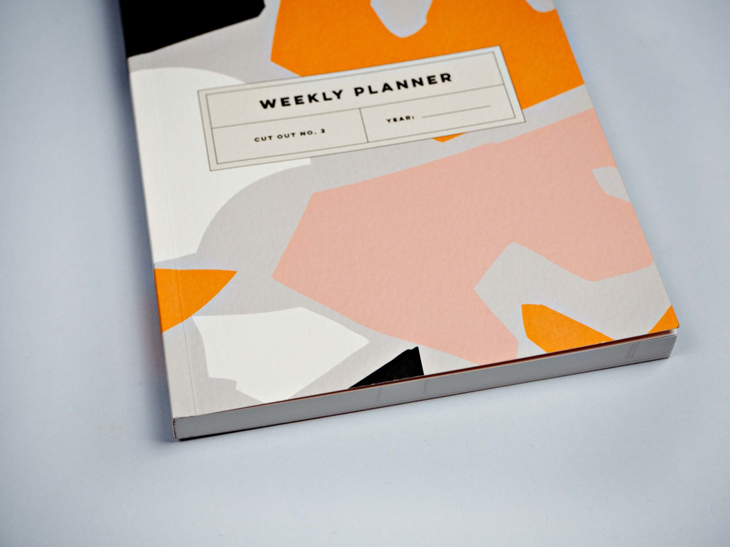 Grey Cut Out Shapes Weekly Planner