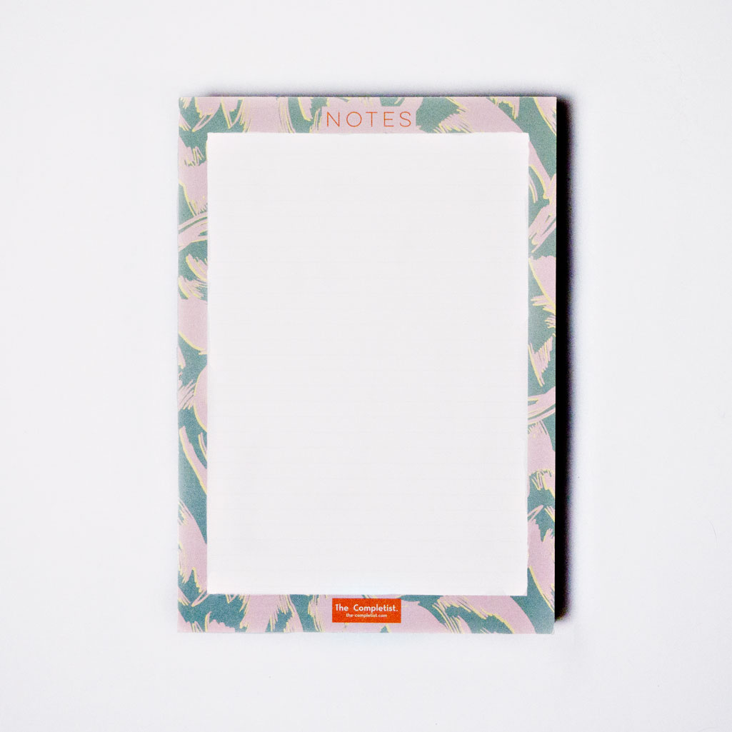 Lilac Scribble Flower Notepad