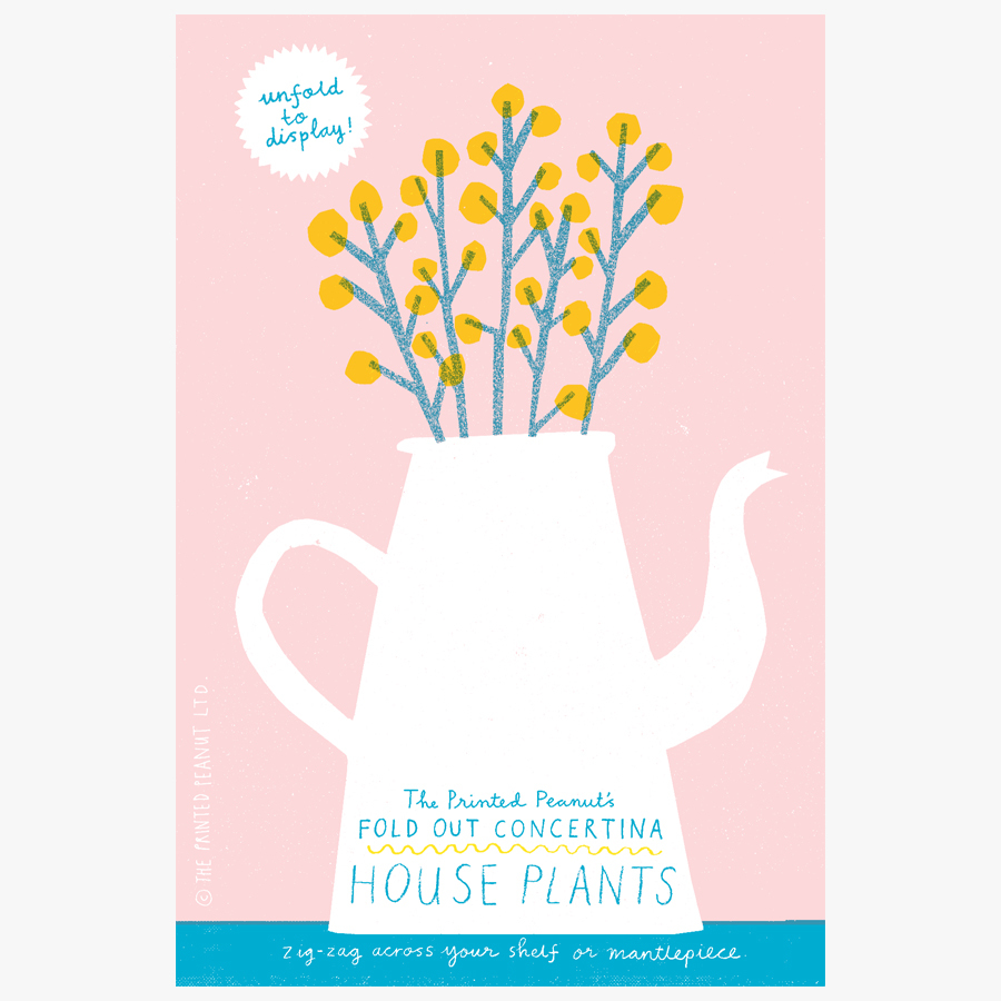 House Plants Concertina Book By The Printed Peanut