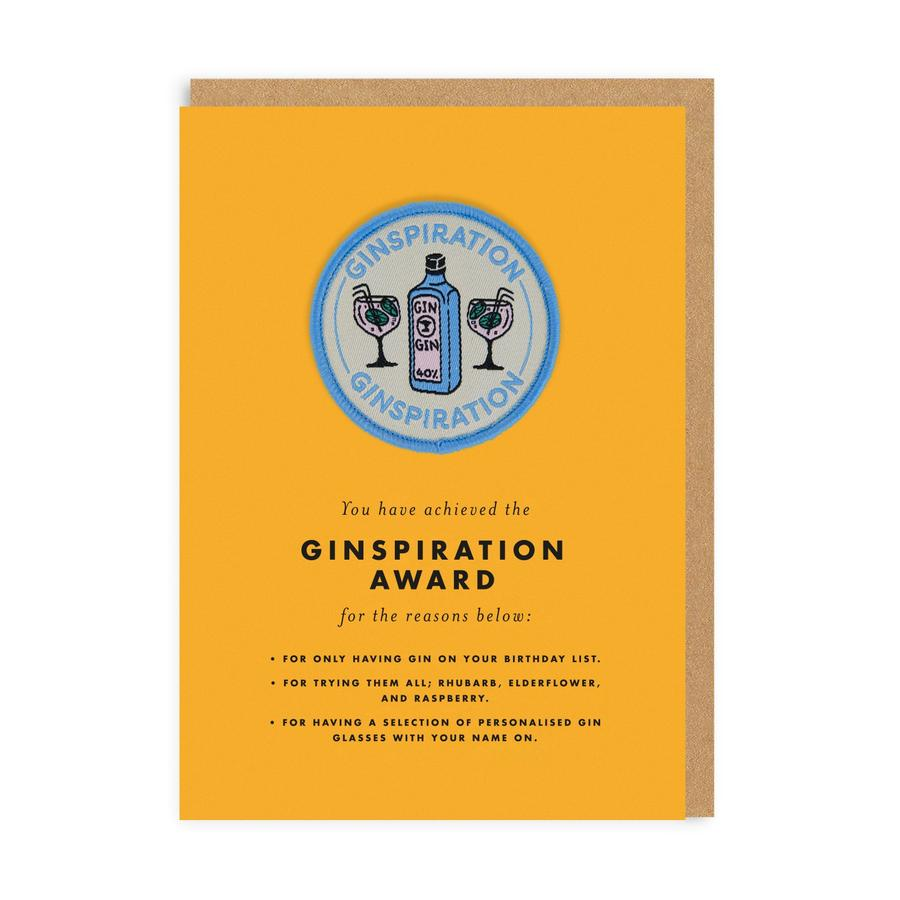 Ginspiration Woven Patch Greeting Card