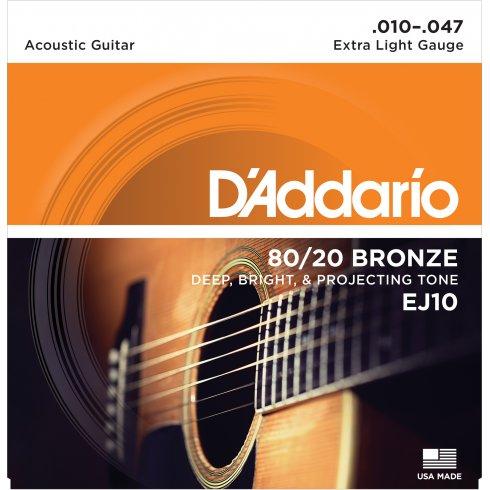 D'ADDARIO  80/20   acoustic strings