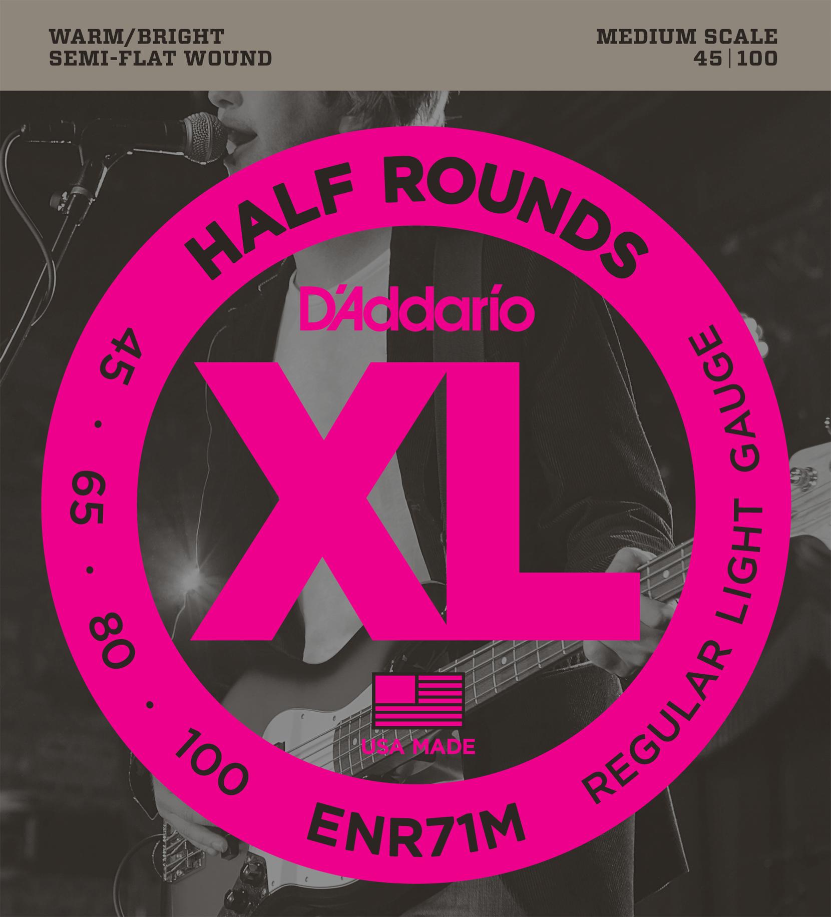D'ADDARIO half wounds ENR71 45-100