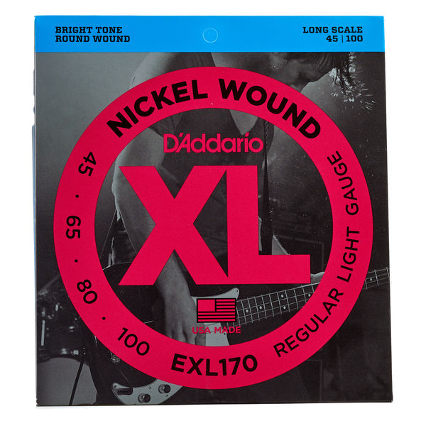 D'ADDARIO EXL170 45-100 Bass Strings