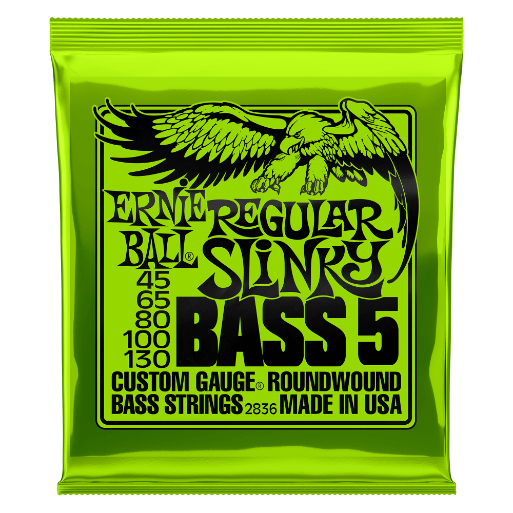 EB SUPER SLINKY 5-STRING NICKEL WOUND ELECTRIC BASS STRINGS