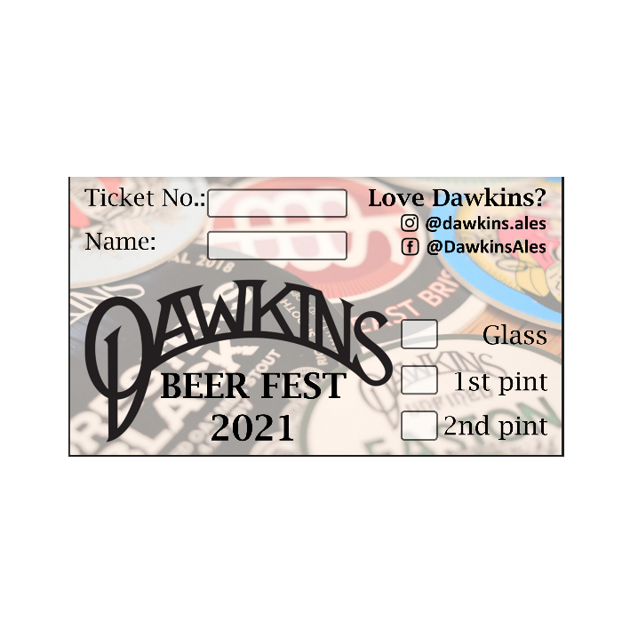 Dawkins Beer Festival Ticket