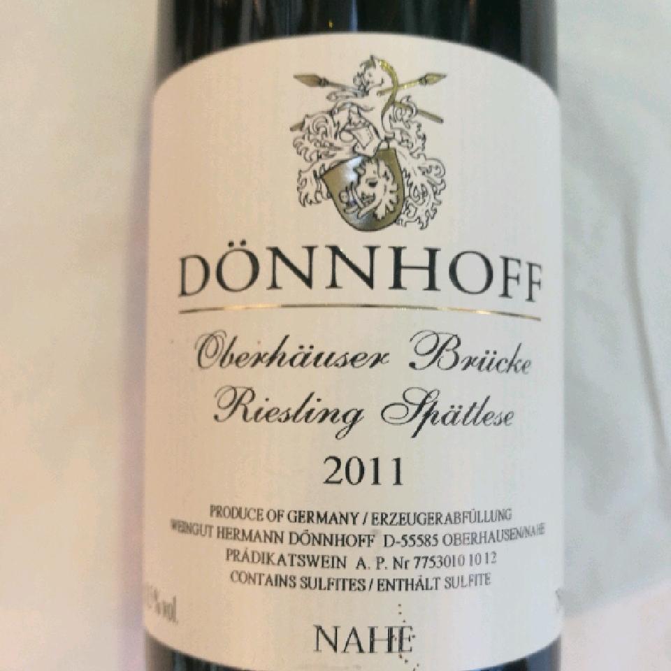 2011 Riesling Spatlese 'Oberhauser Brucke' Nahe - Donnhoff