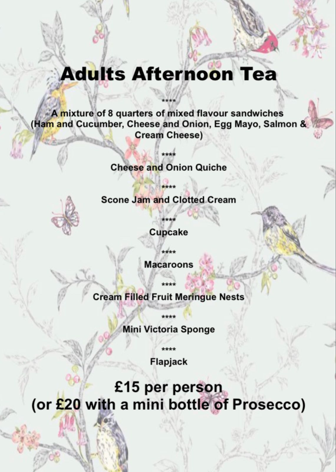 Adult Afternoon Tea