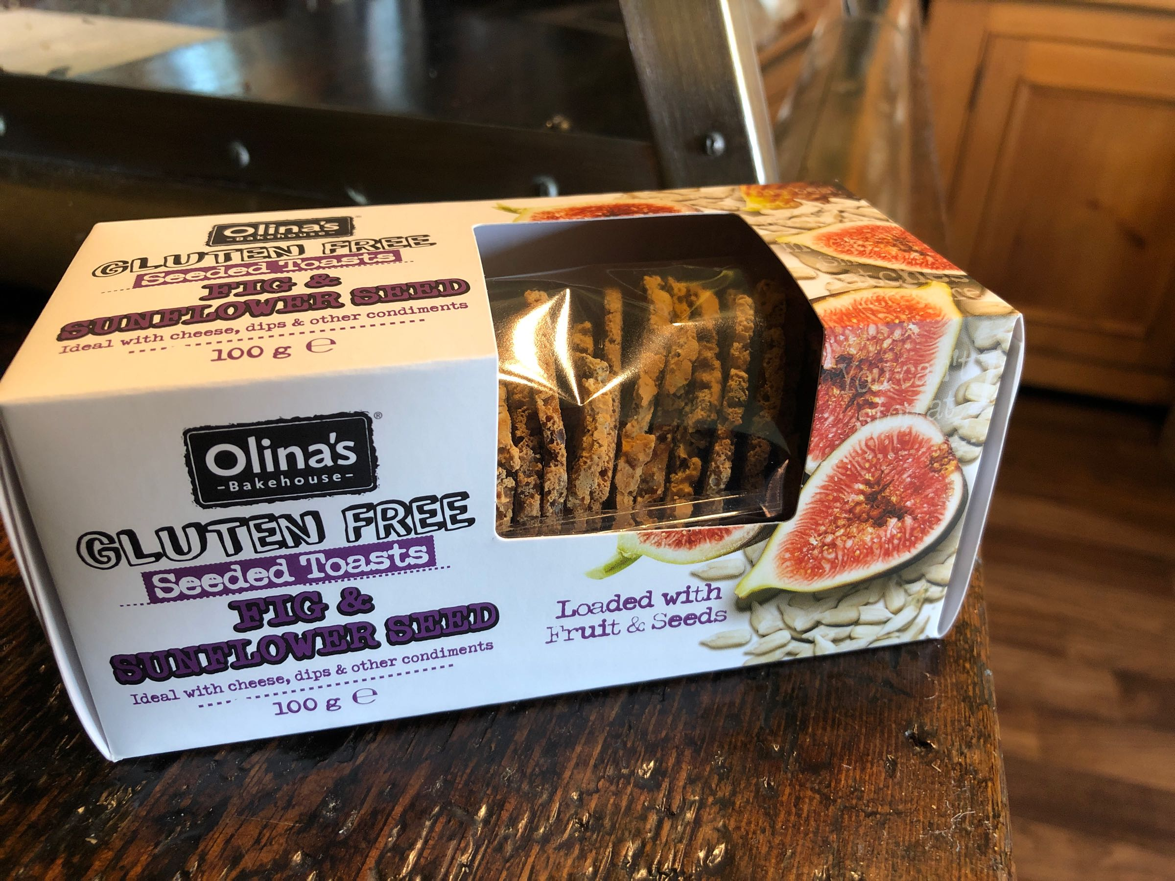 Olina's Gluten Free Fig & Sunflower Toast