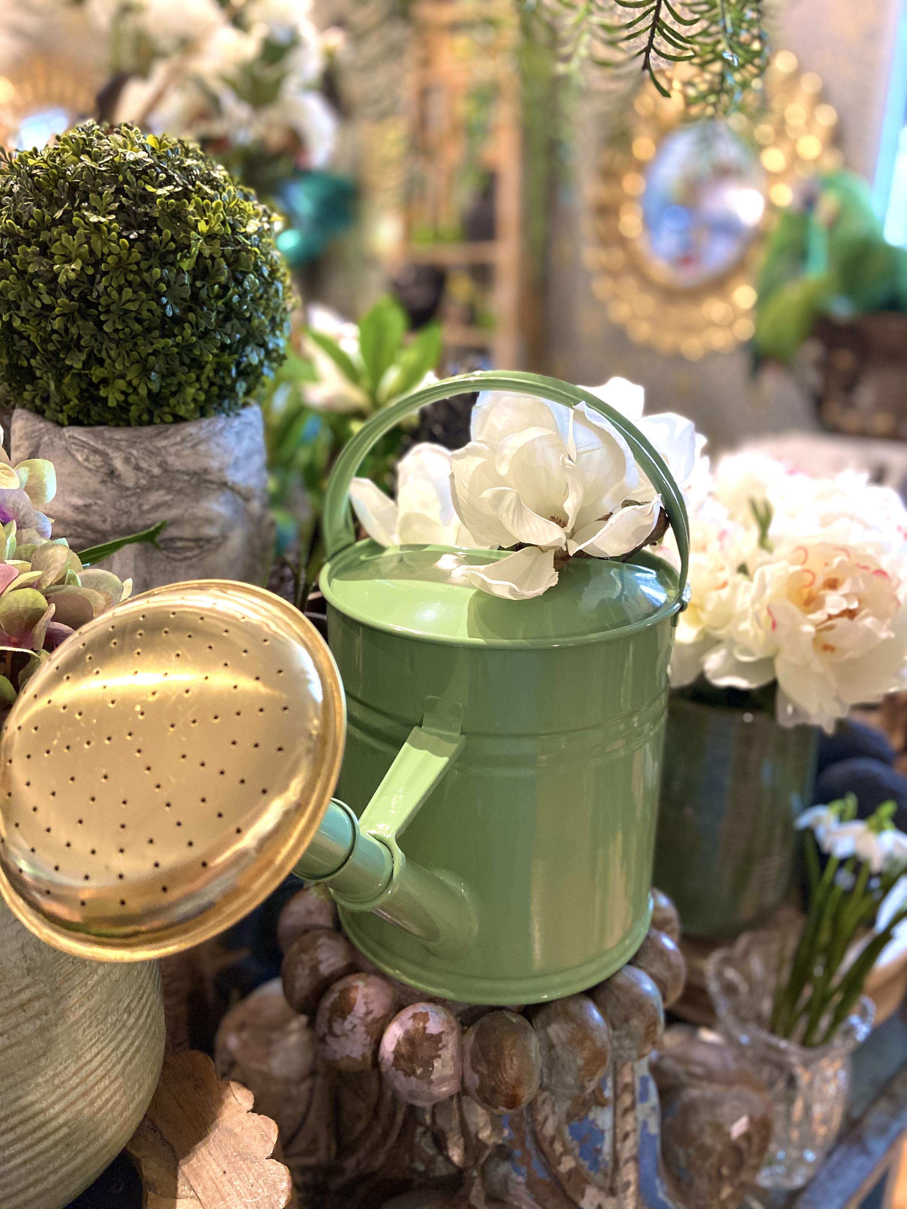 Kastelukannu Anika vaalean vihreä