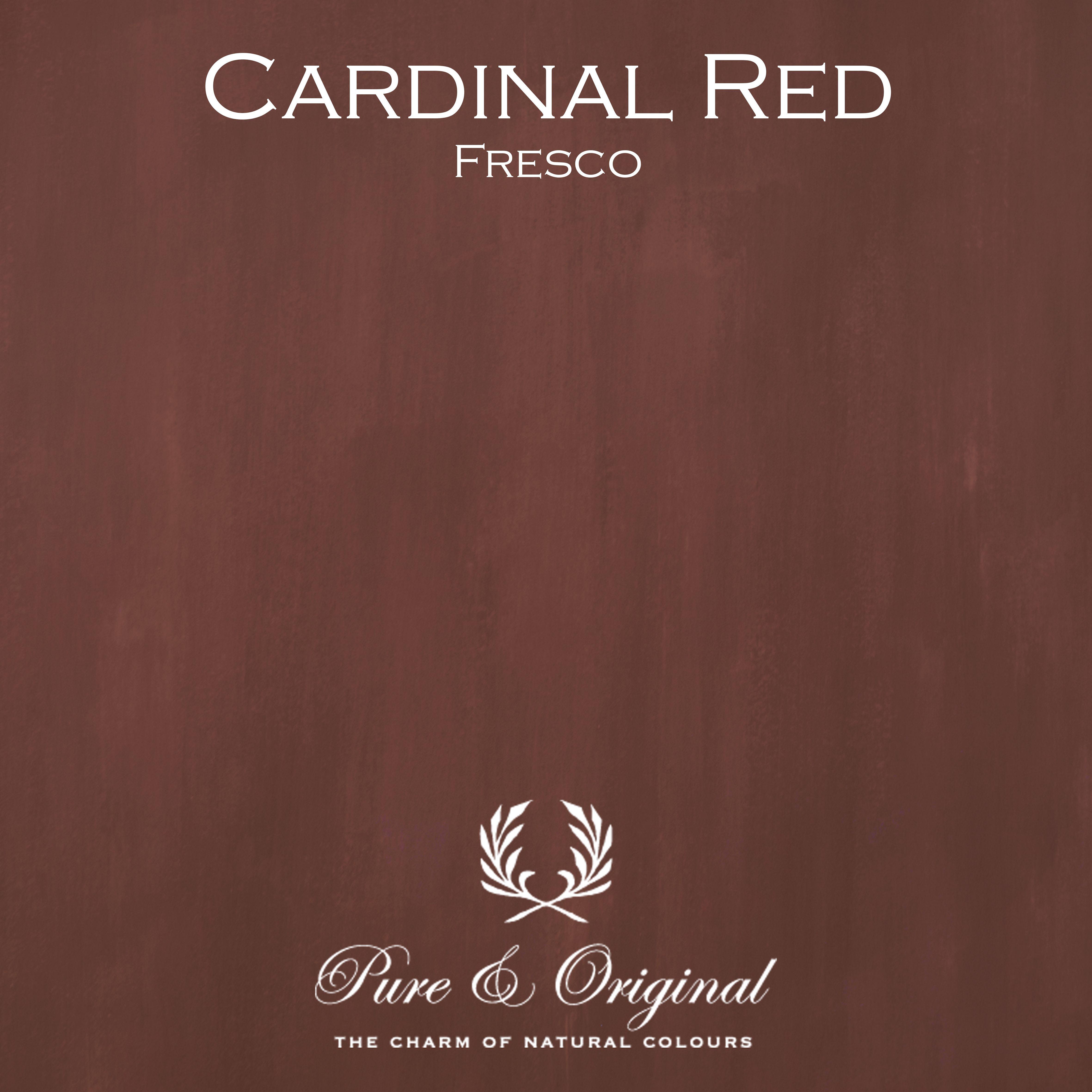 Kulör Cardinal Red, Fresco kalkfärg