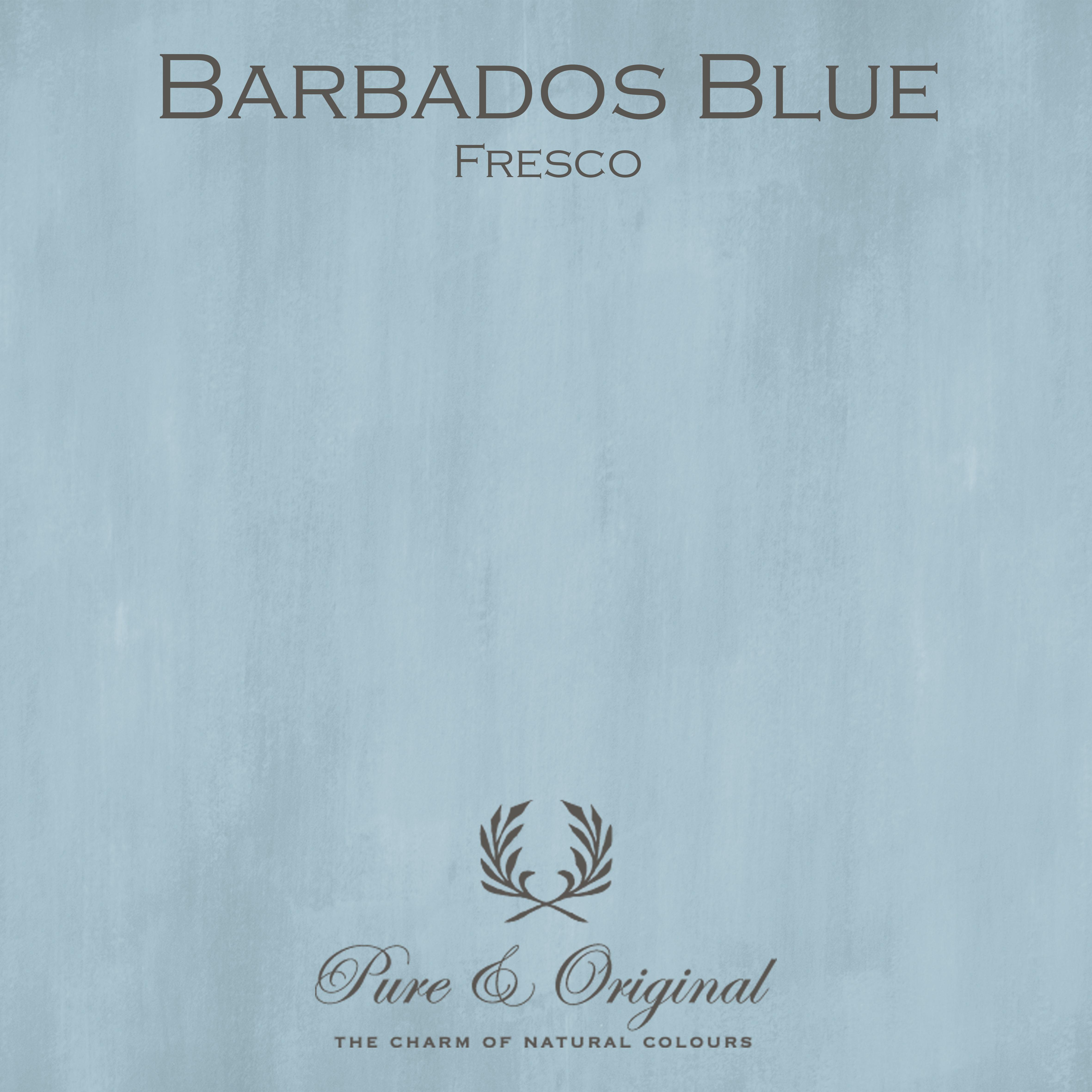 Kulör Barbados Blue, Fresco kalkfärg