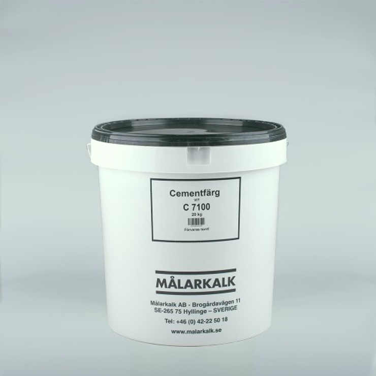 Cementfärg, Vit, 20 Kg