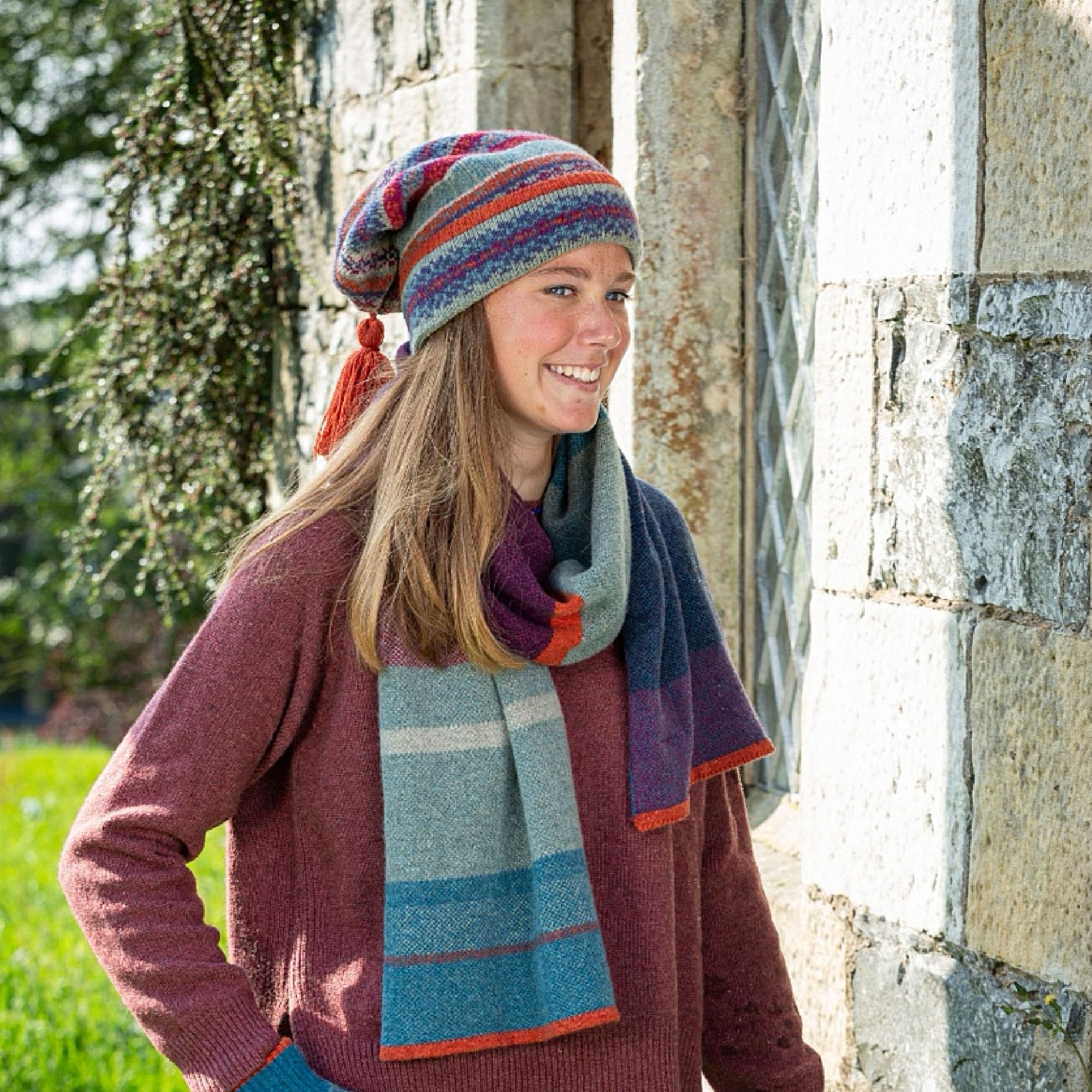 Fairisle Kep Hat by Louise Wedderburn