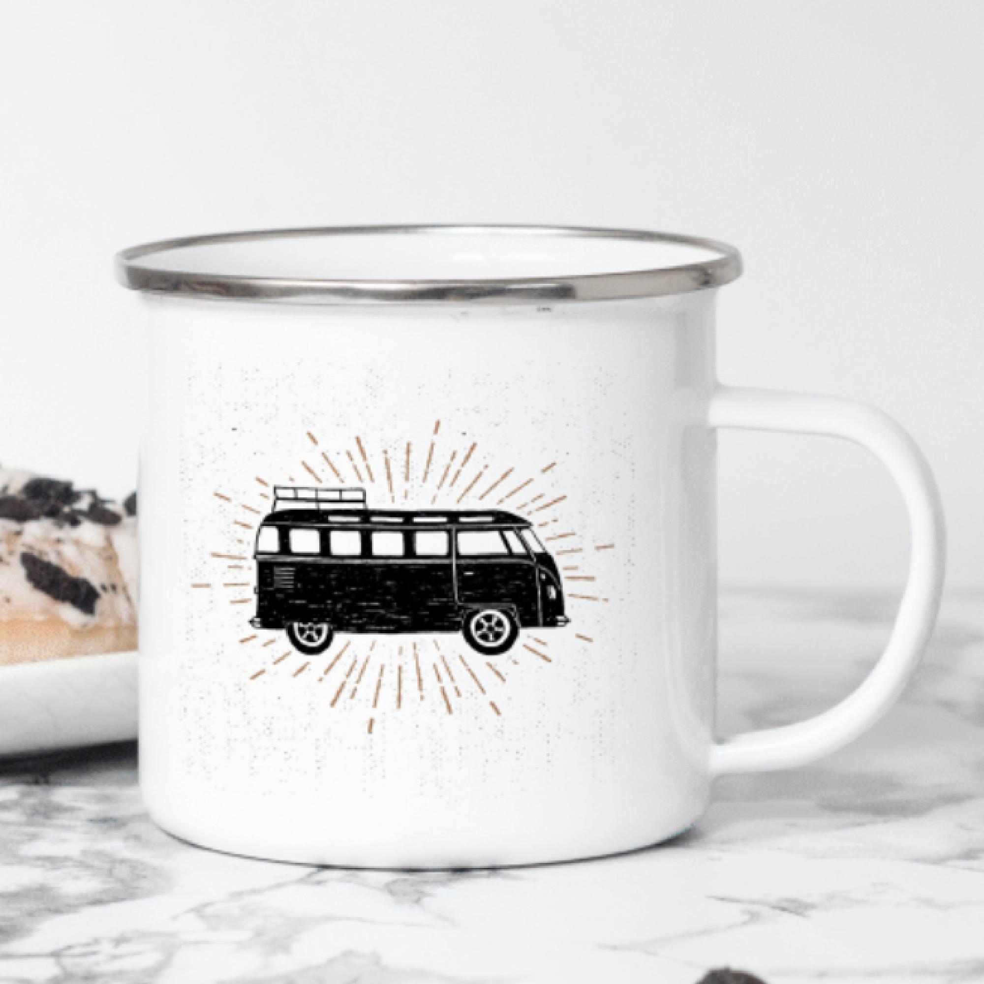 Camping / Van Life Enamel Mugs