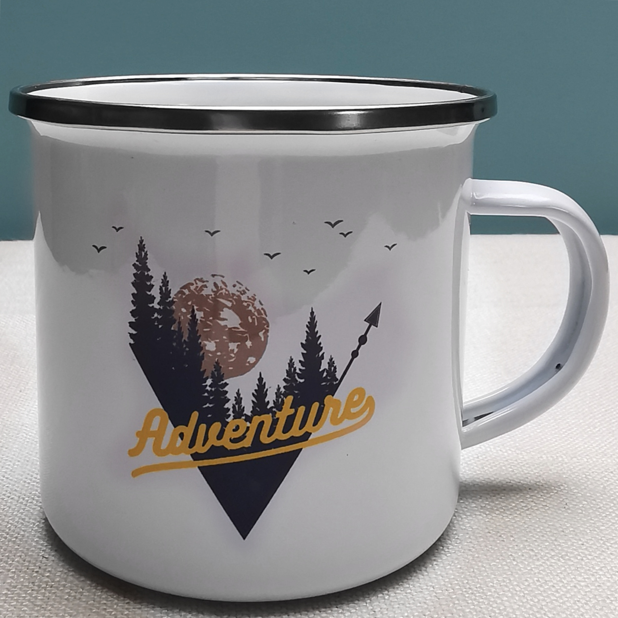 Adventure Enamel Mug