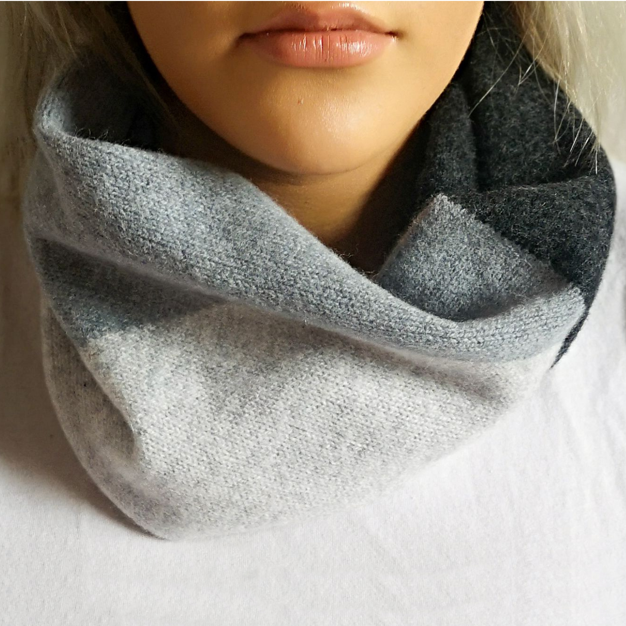 Block snood by Lyndsey Currie