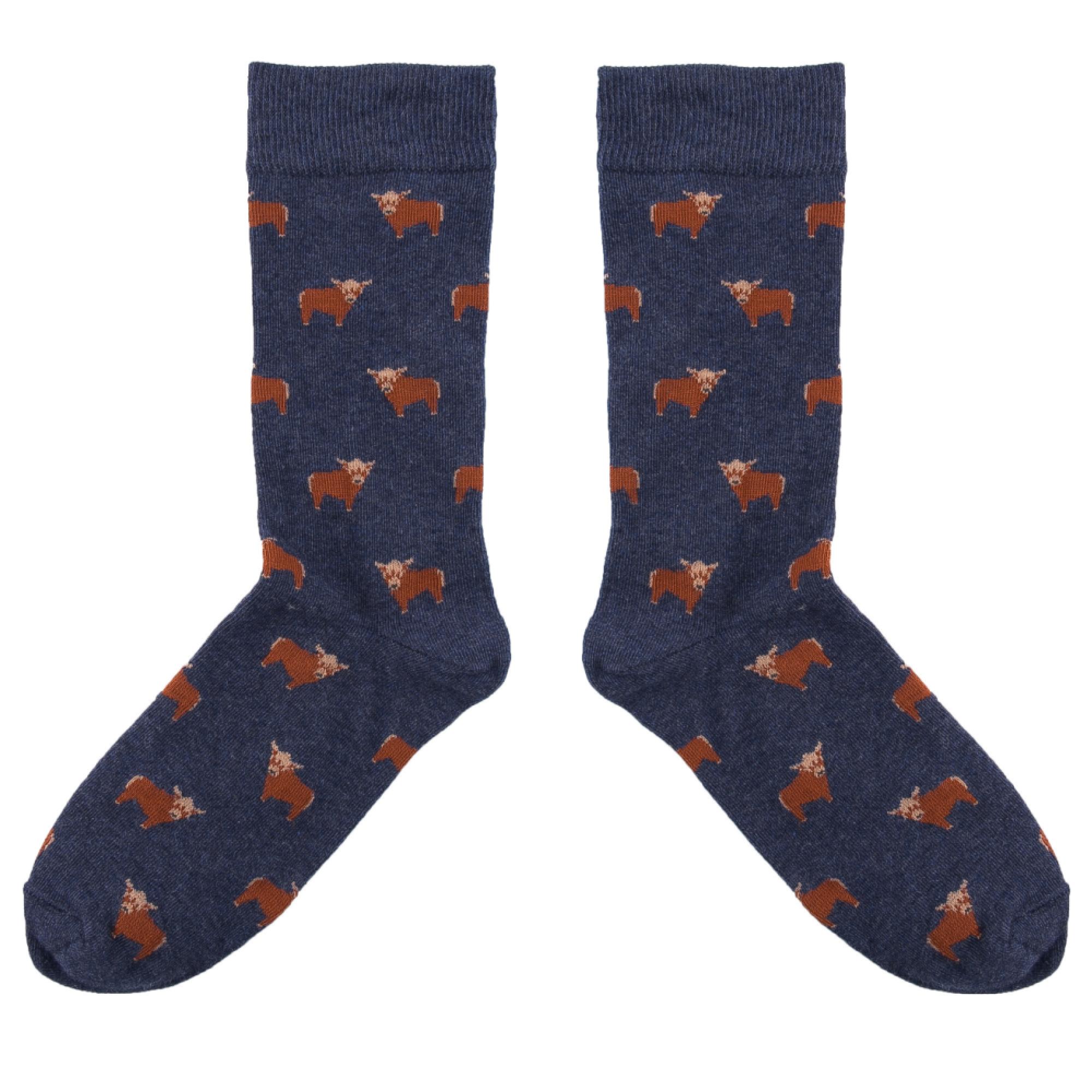 Highland Cow Socks UK 7.5-11.5