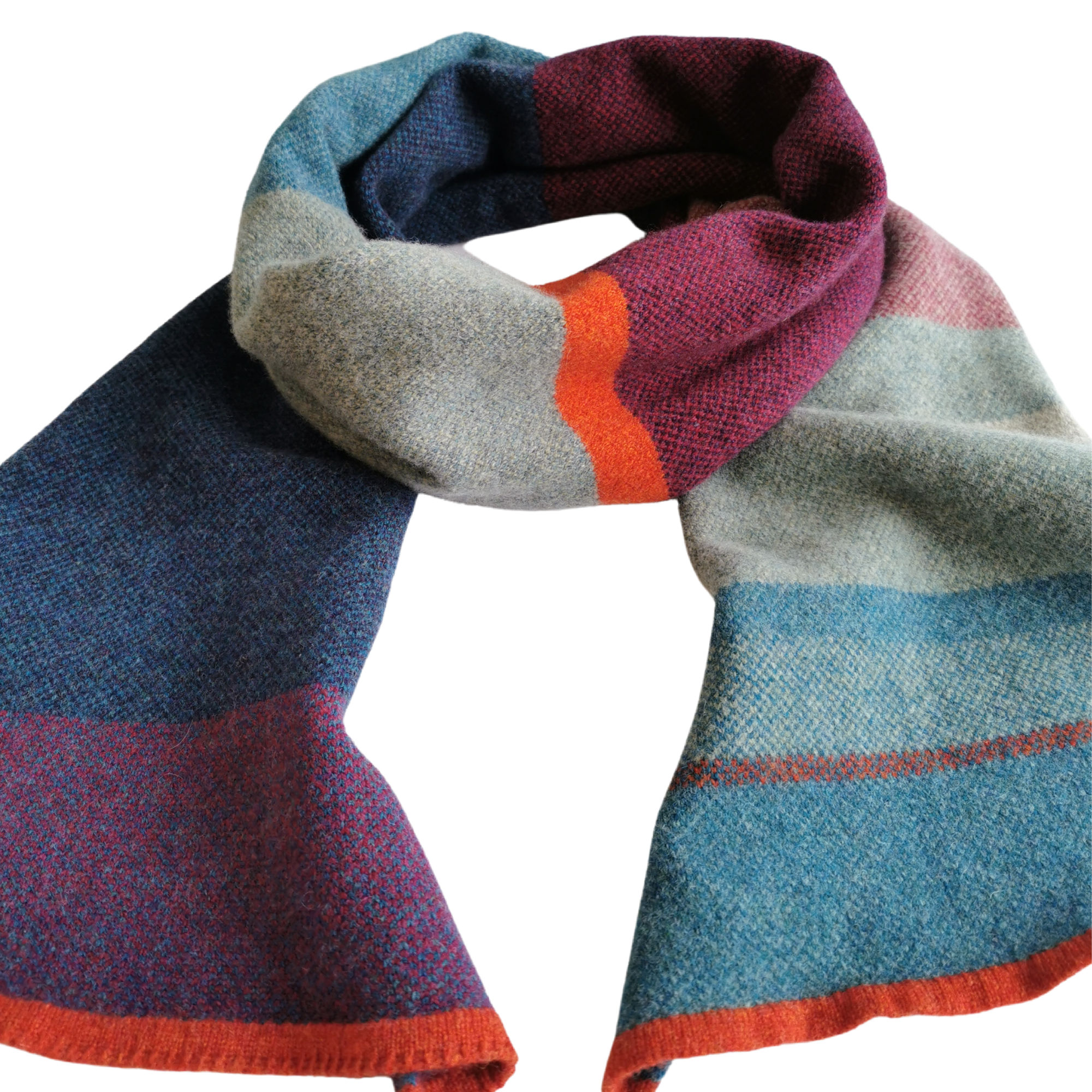 Heather Lambswool Scarf by Louise Wedderburn