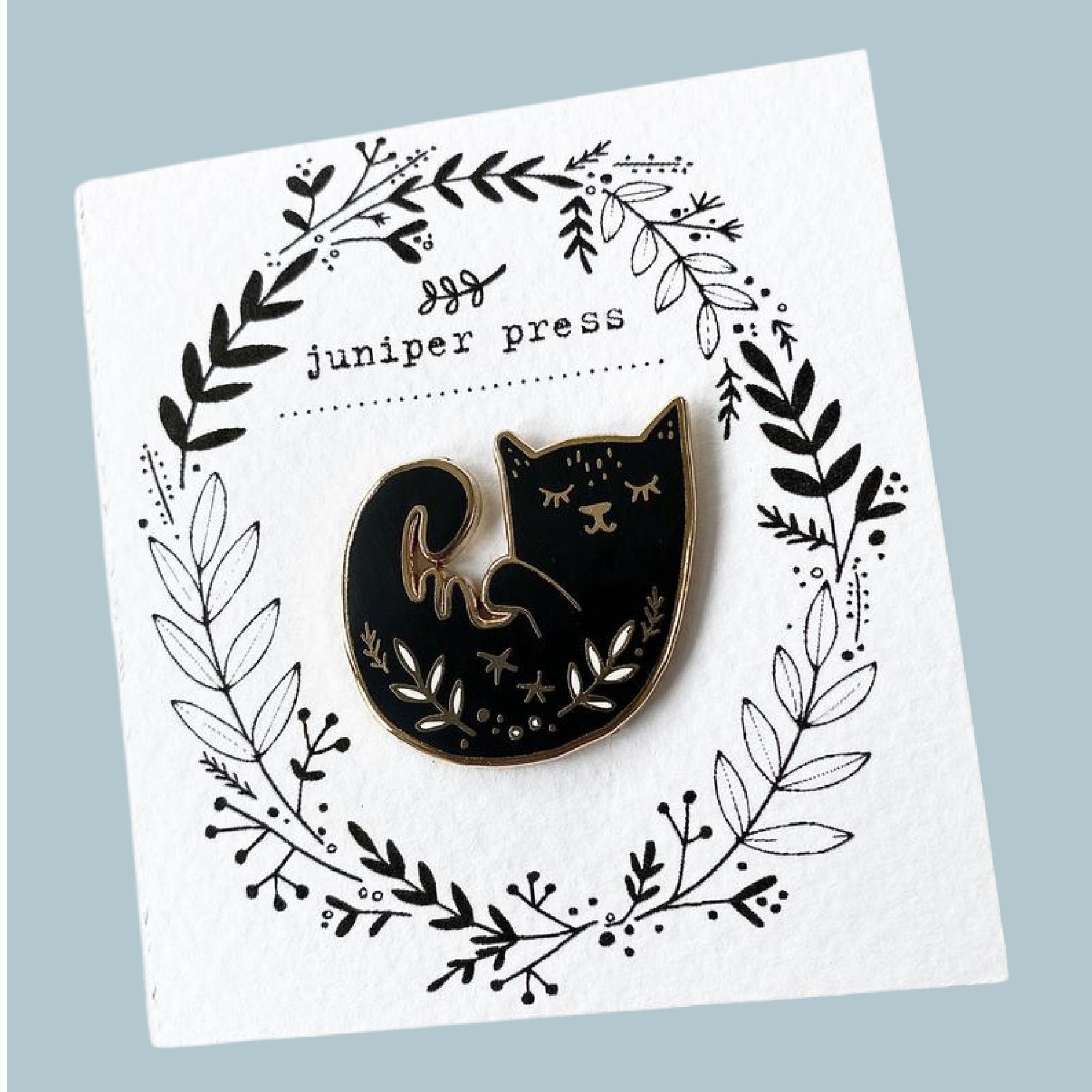 Cat Pin by Juniper Press