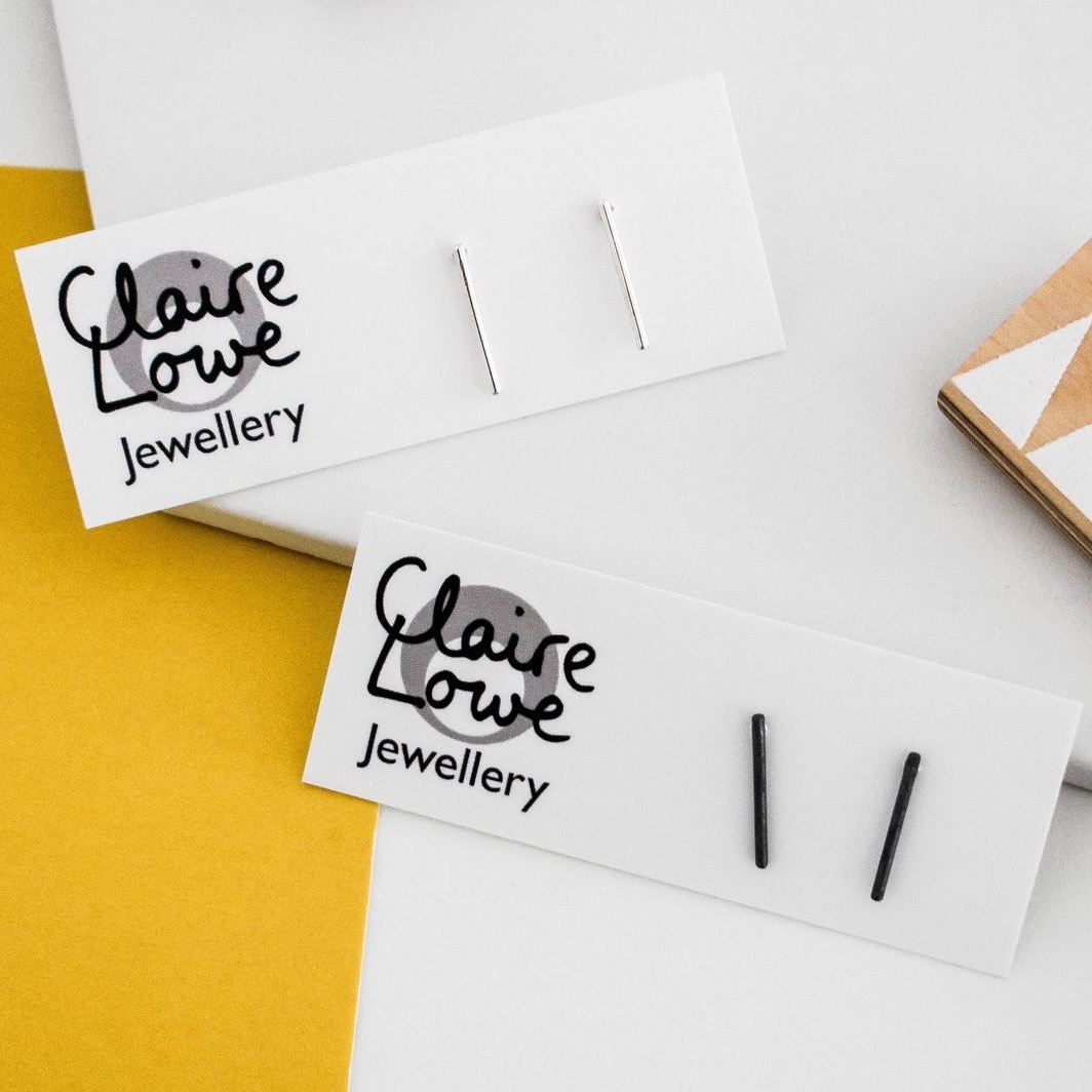 Silver Line Studs by Claire Lowe