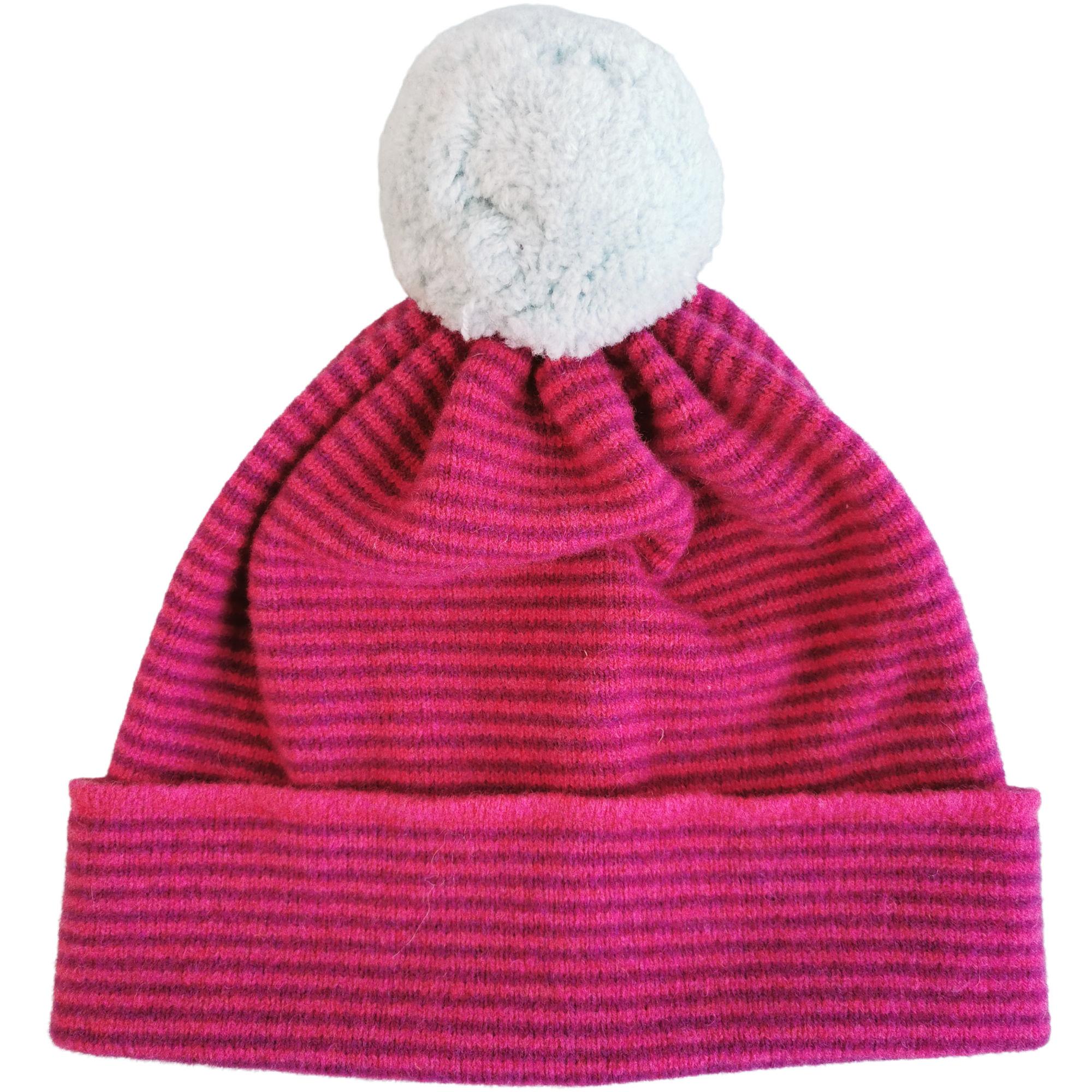 Pom pom hat by Louise Wedderburn