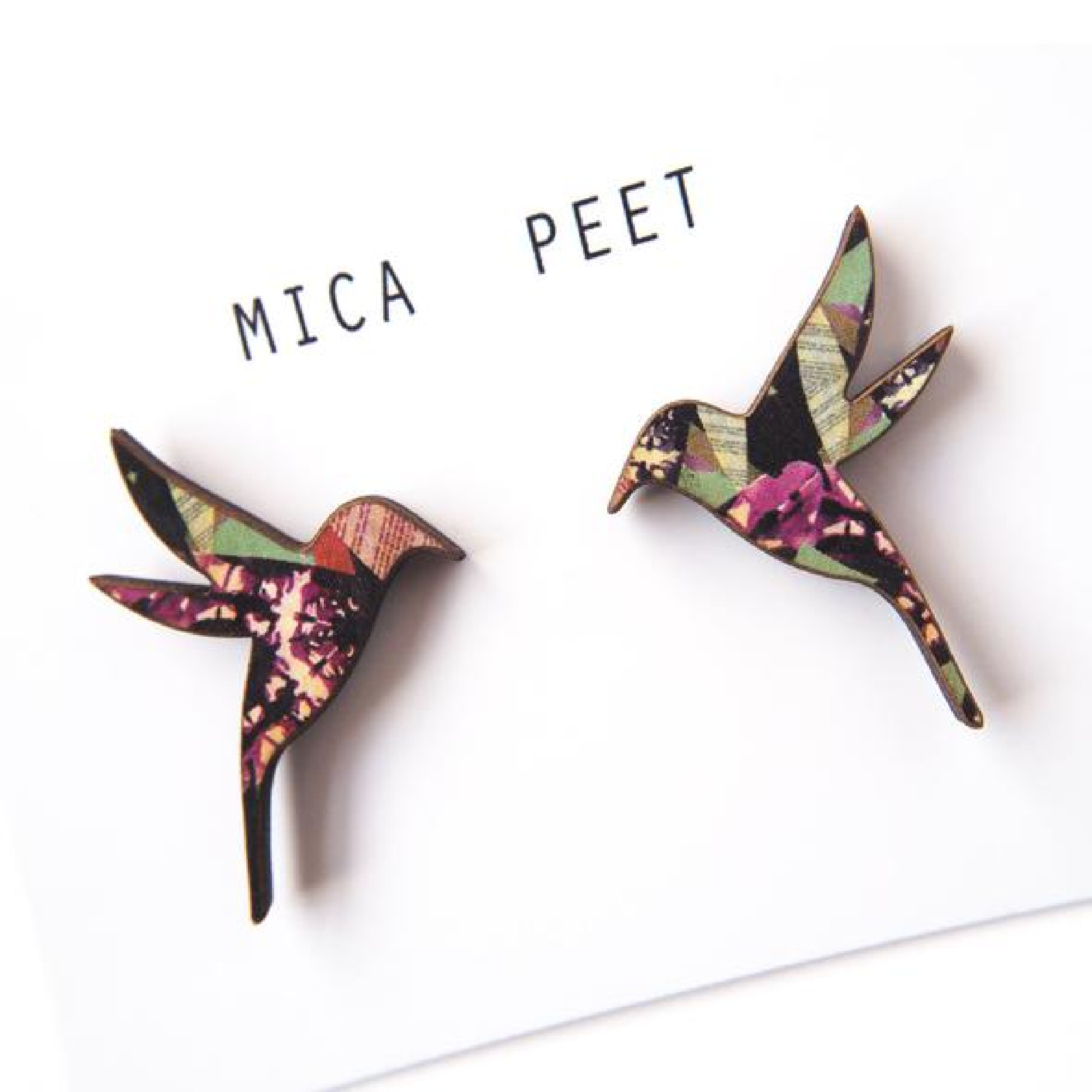 Humming Bird Earrings by Mica Peet