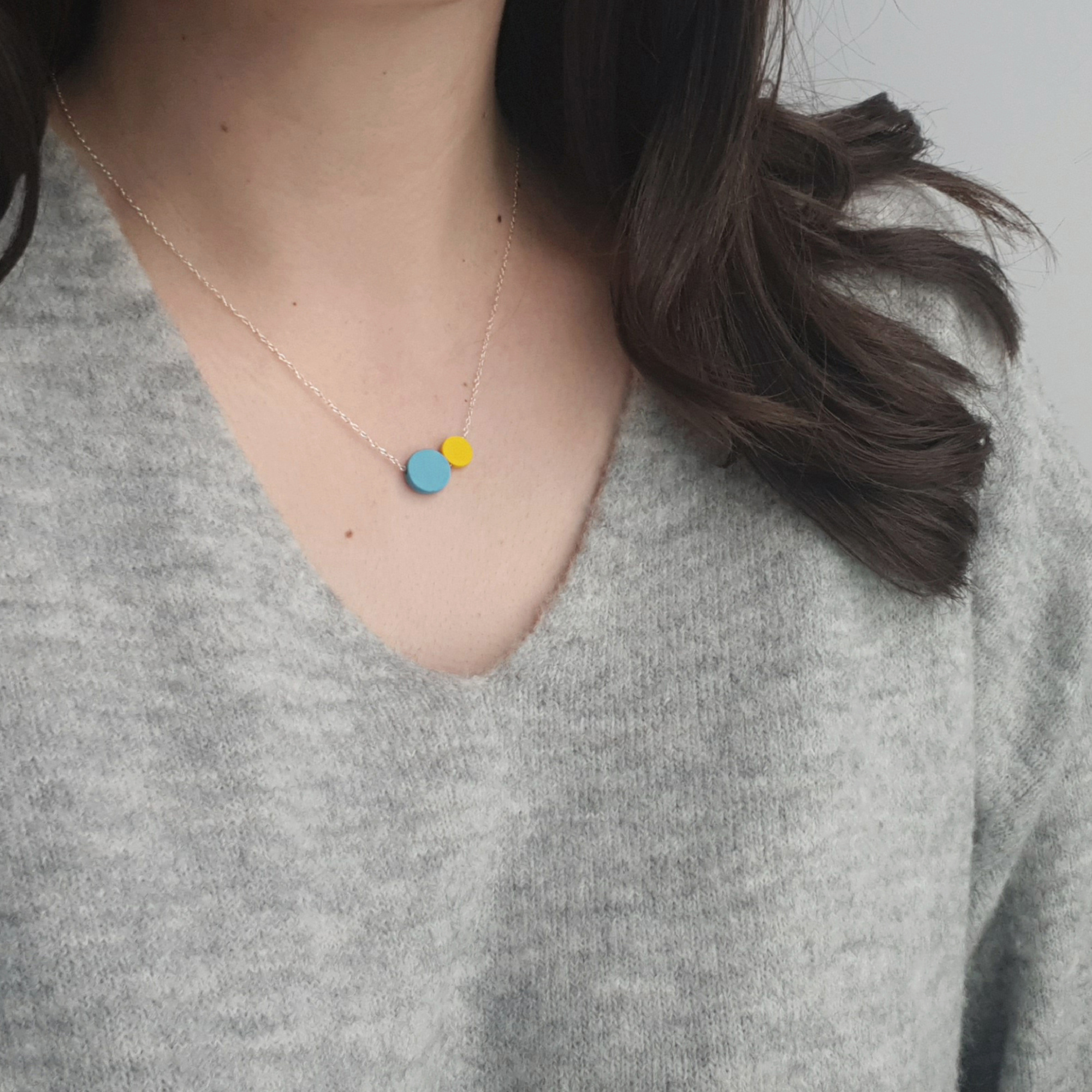 Dottie Ceramic Necklace by Beth Lamont