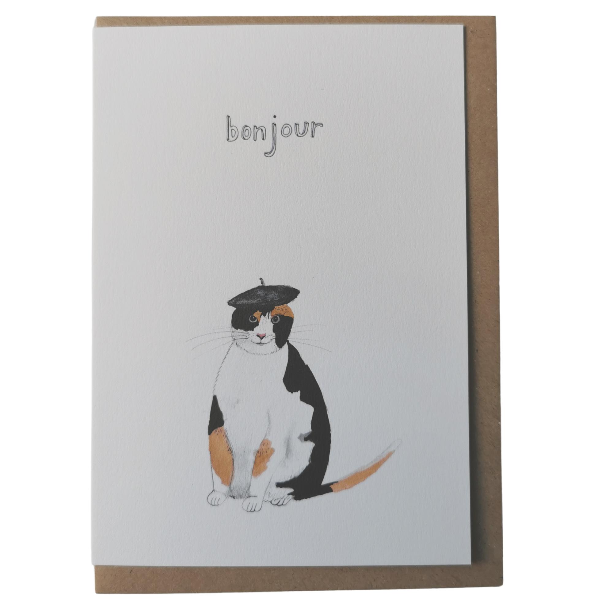 Bonjour Cat Dear Prudence Card
