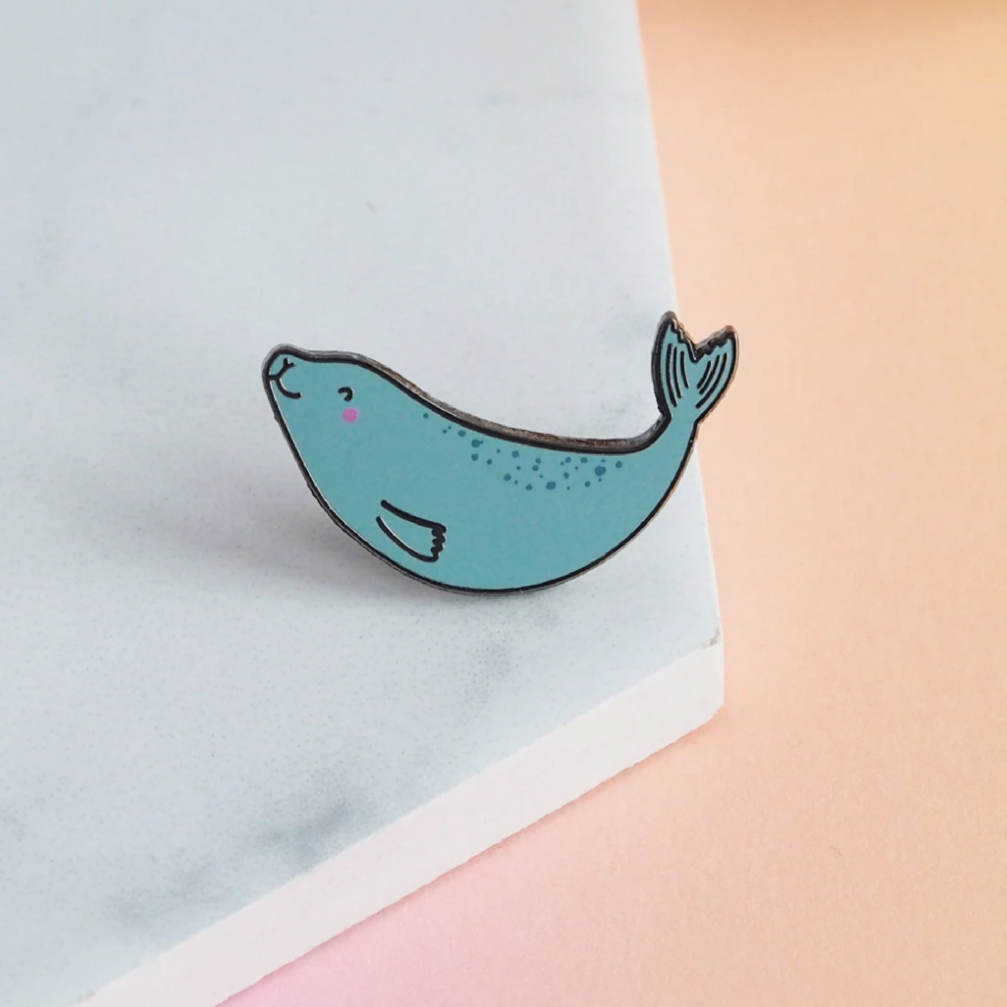 Swimming Seal Enamel Pin