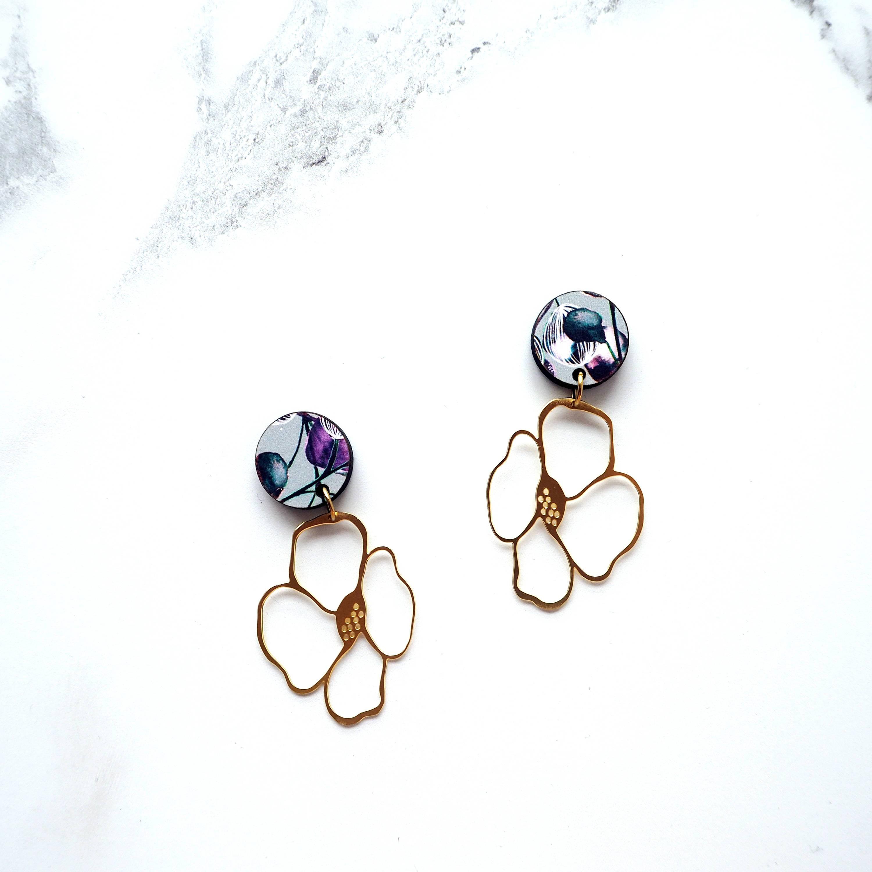 Anemone Earrings by Mica Peet
