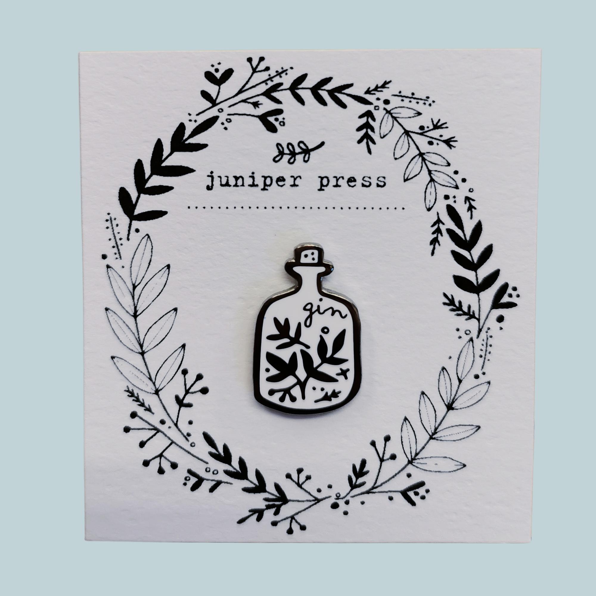 Gin Enamel Pin by Juniper Press