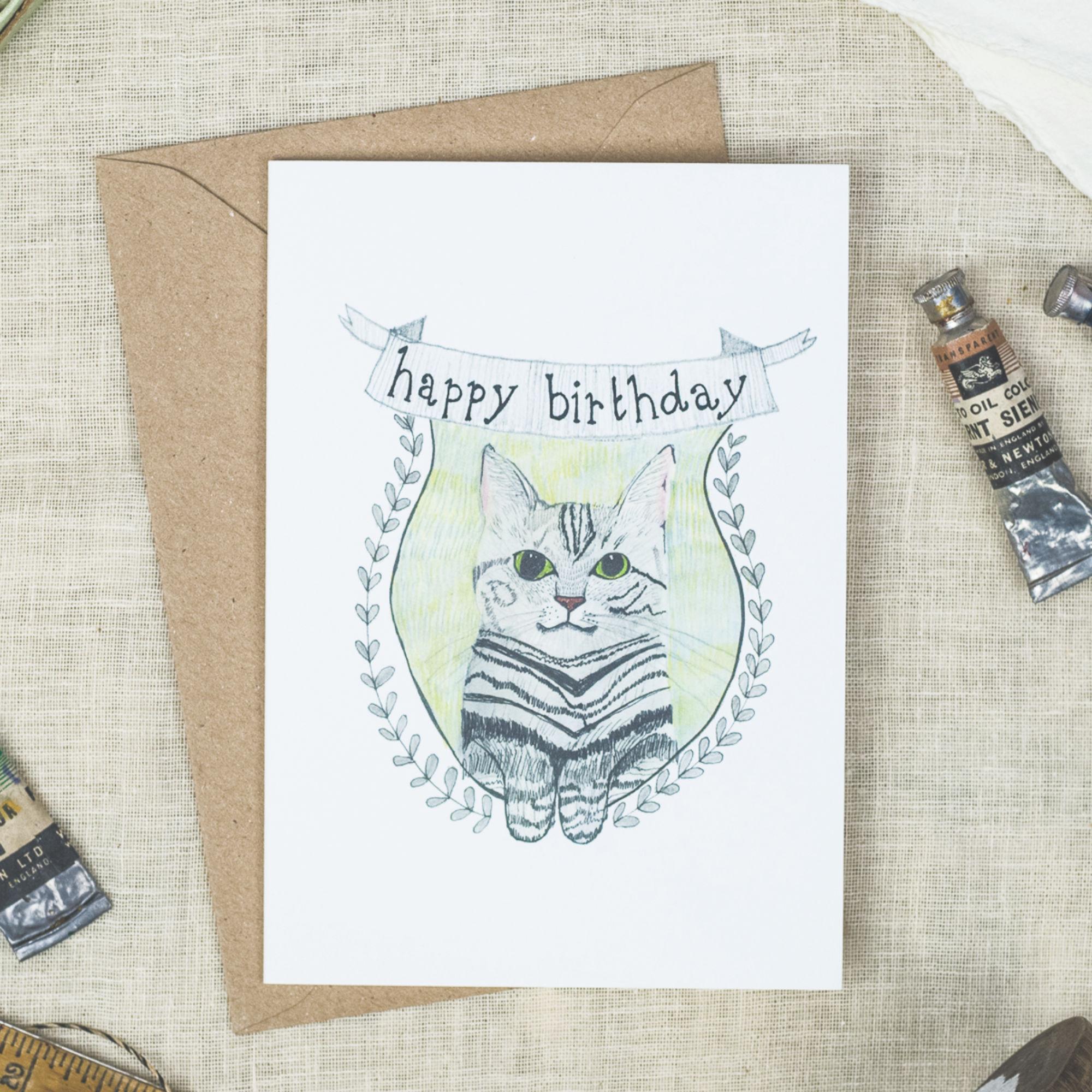 Card - Birthday Cat