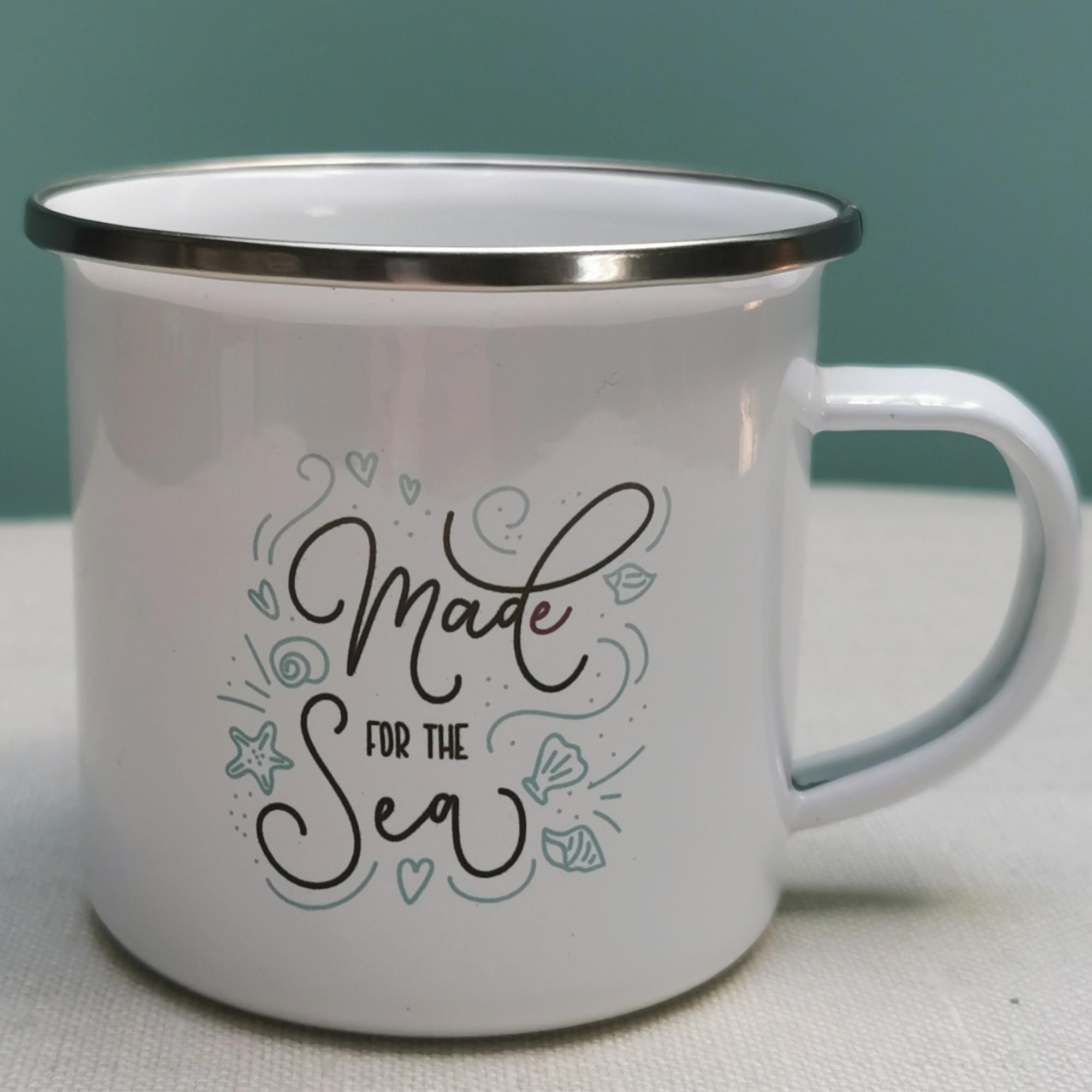 Made for the Sea Enamel Mug
