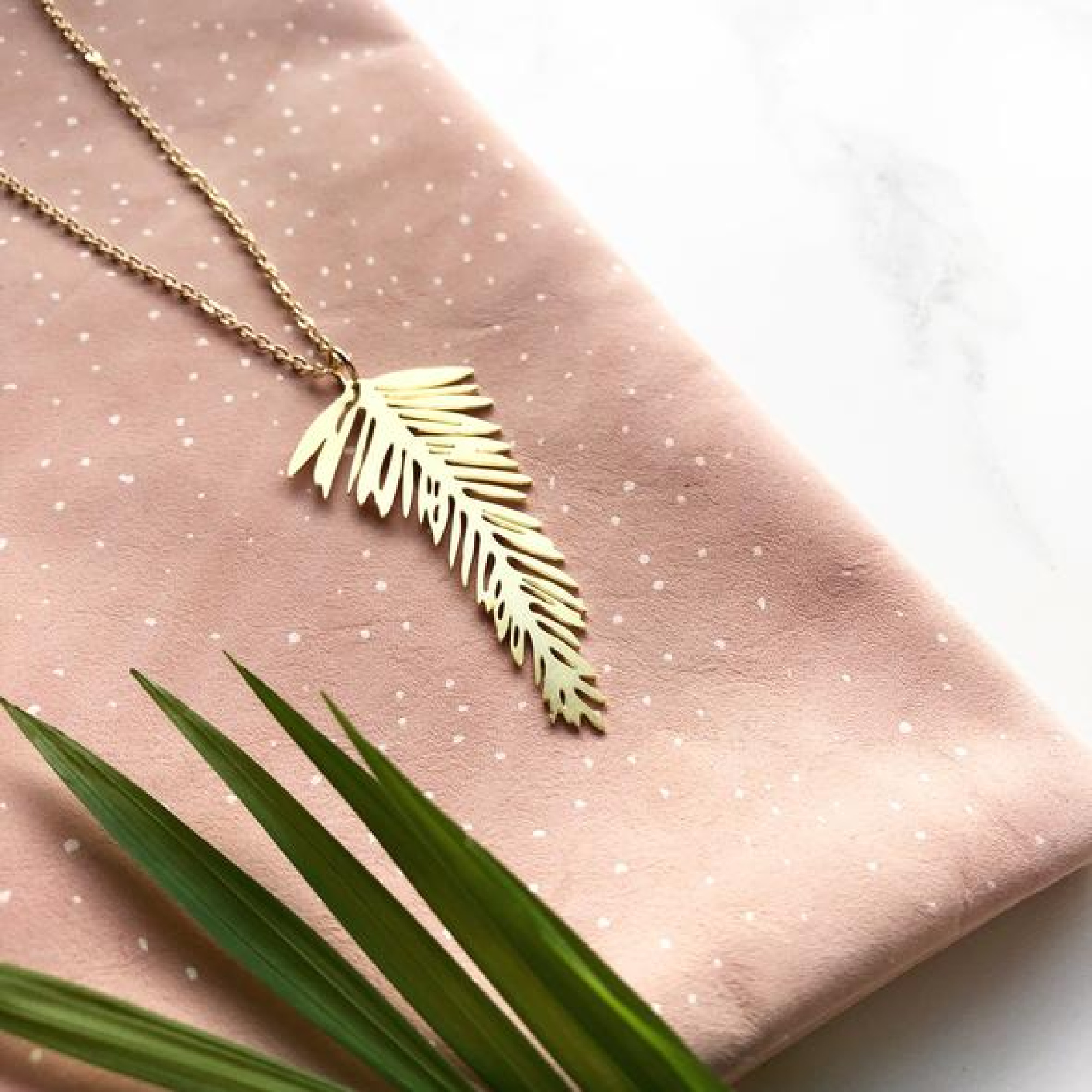 Palm Leaf Necklace by Mica Peet