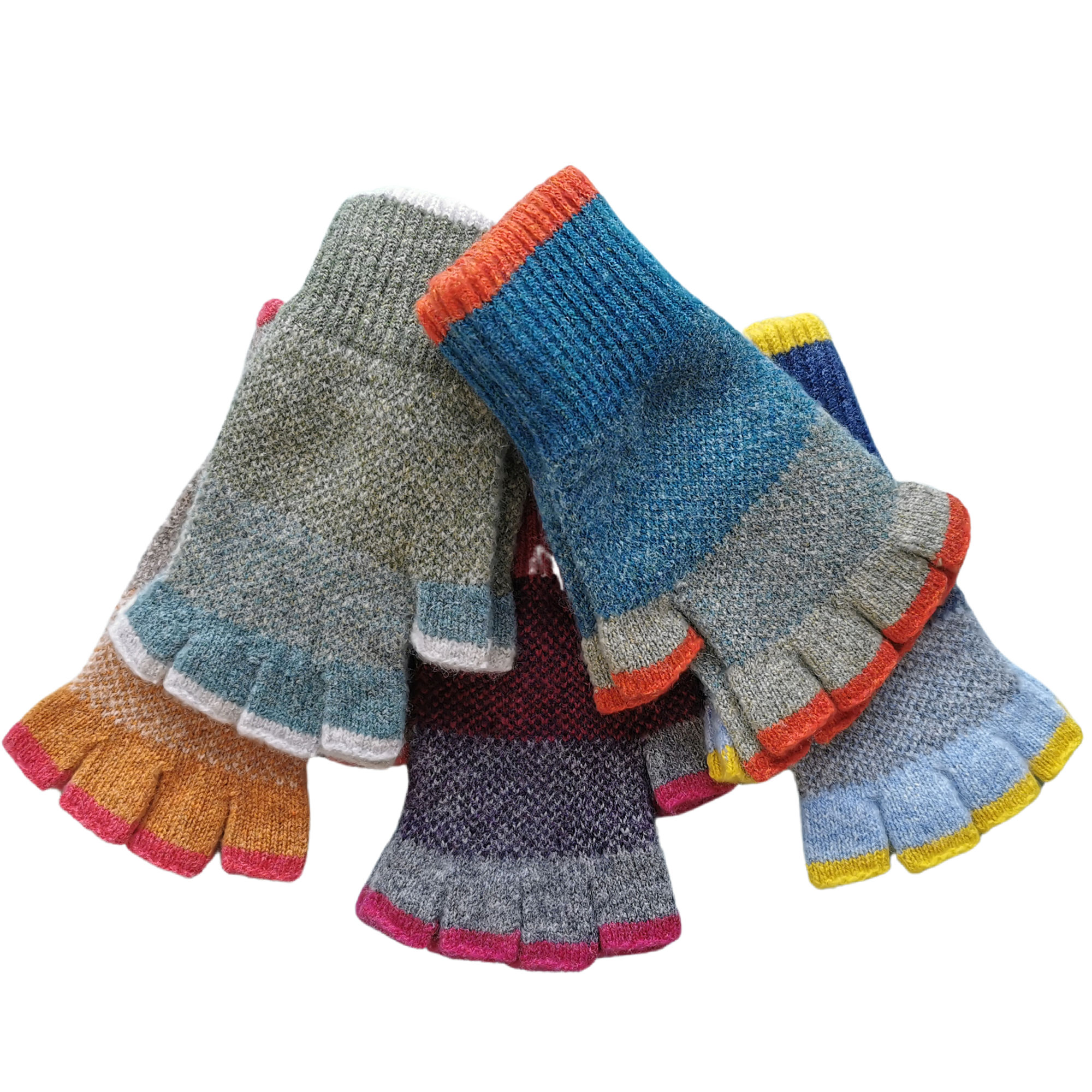 Lambswool Fingerless Gloves by Louise Wedderburn