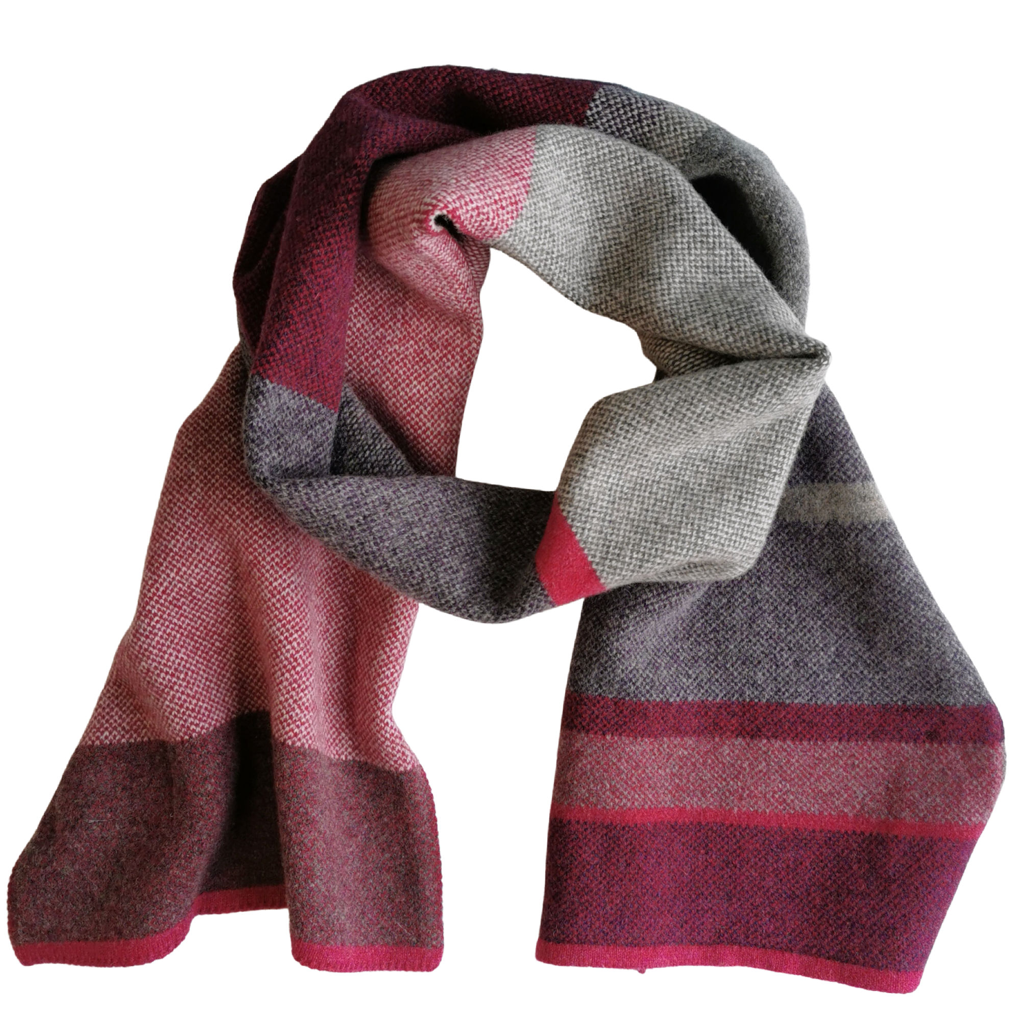 Berry Lambswool Scarf by Louise Wedderburn