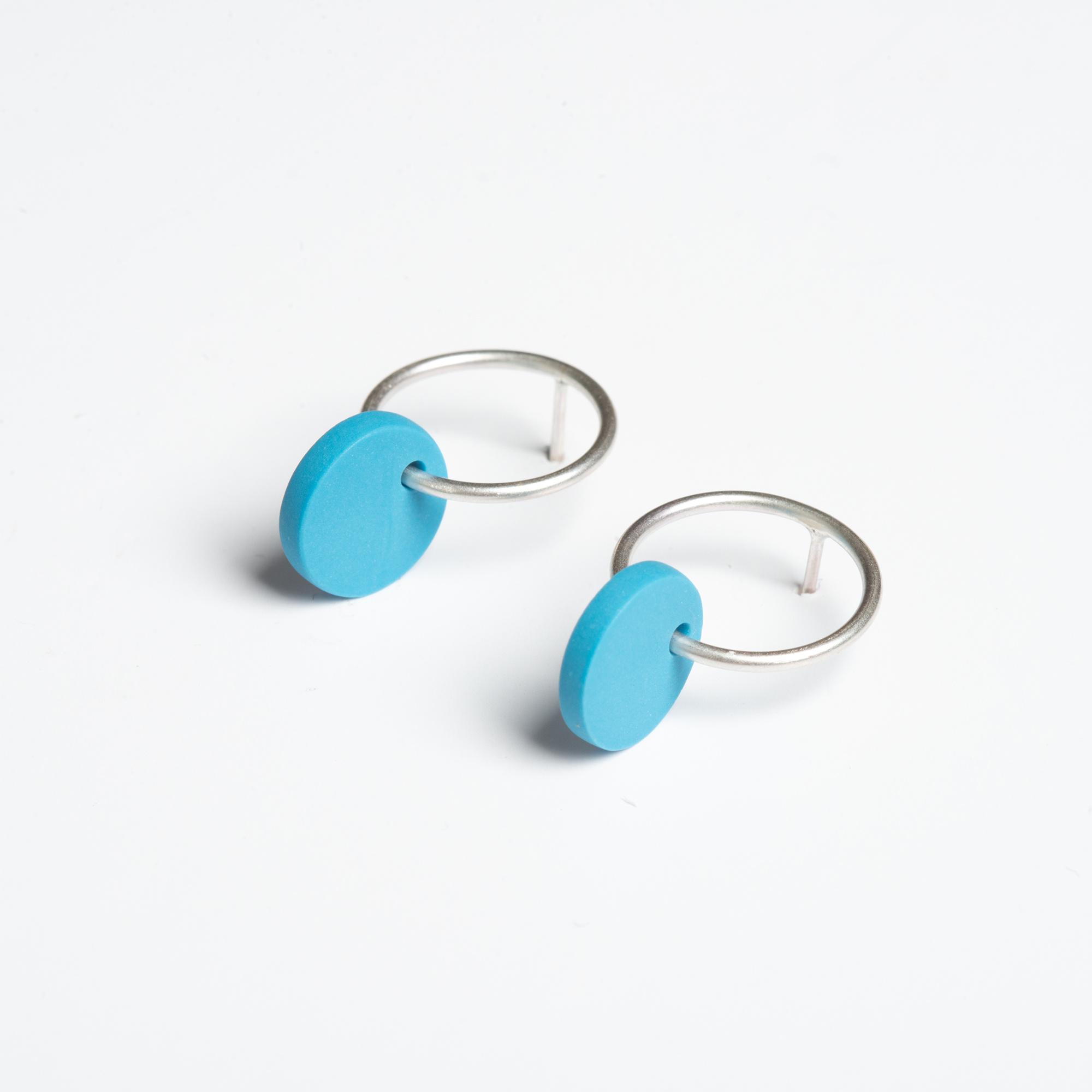 Circle Hoop Earrings by Beth Lamont