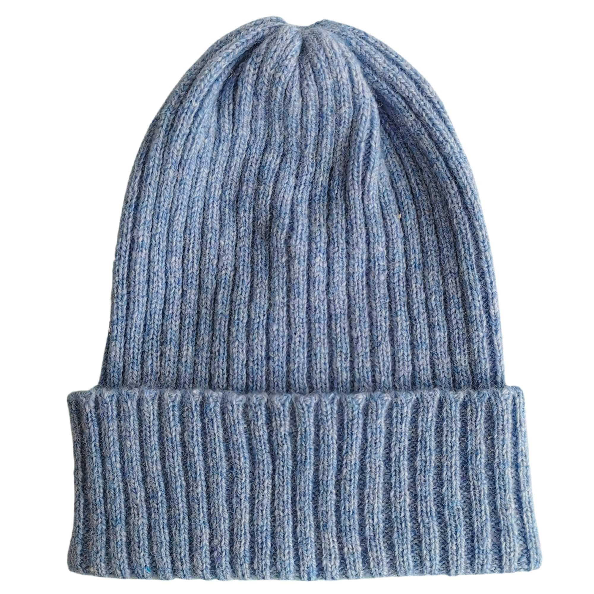 Rib Lambswool Knit Hat by Scarlet Knitwear