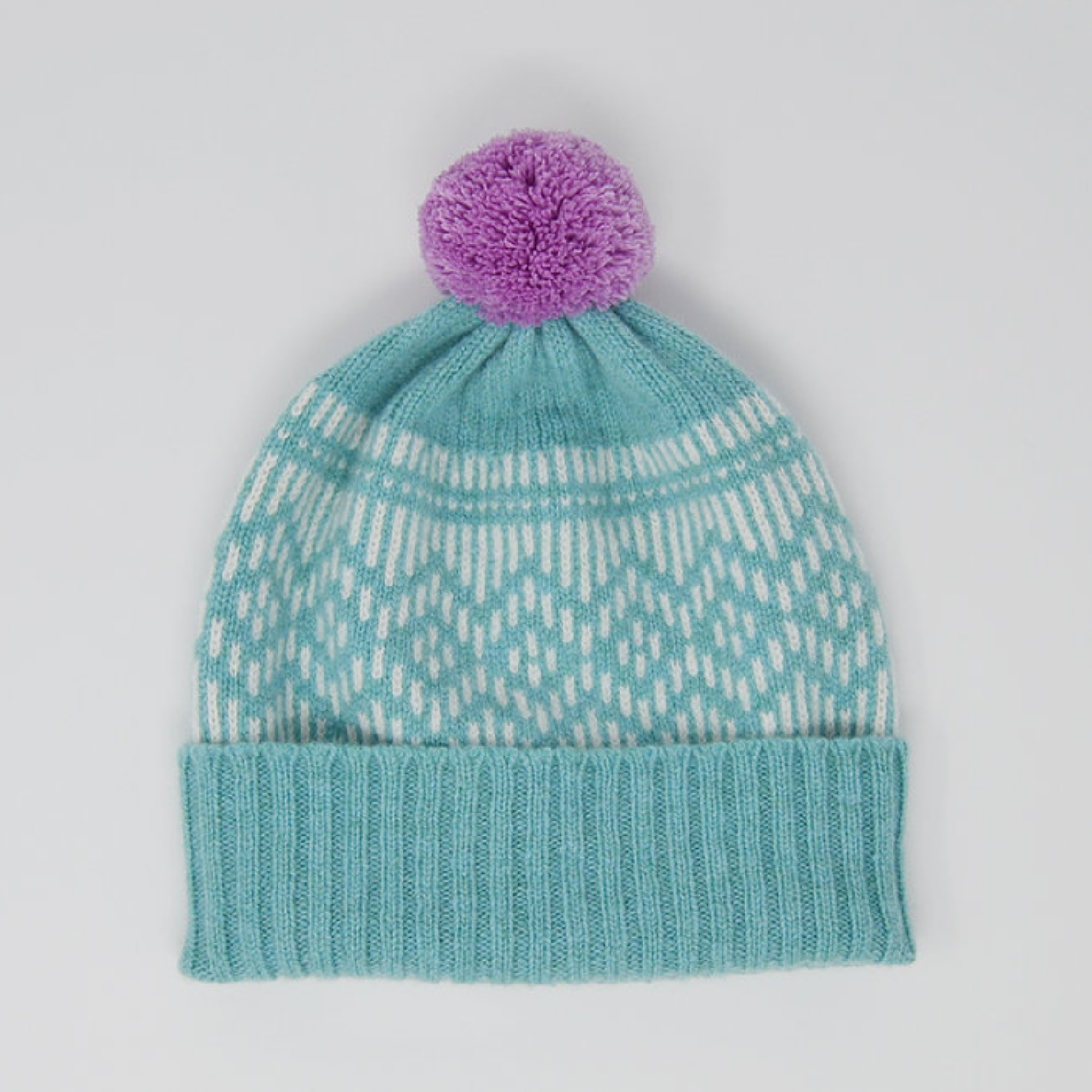 Dundee Graphics Pom Pom Hat by Scarlet Knitwear