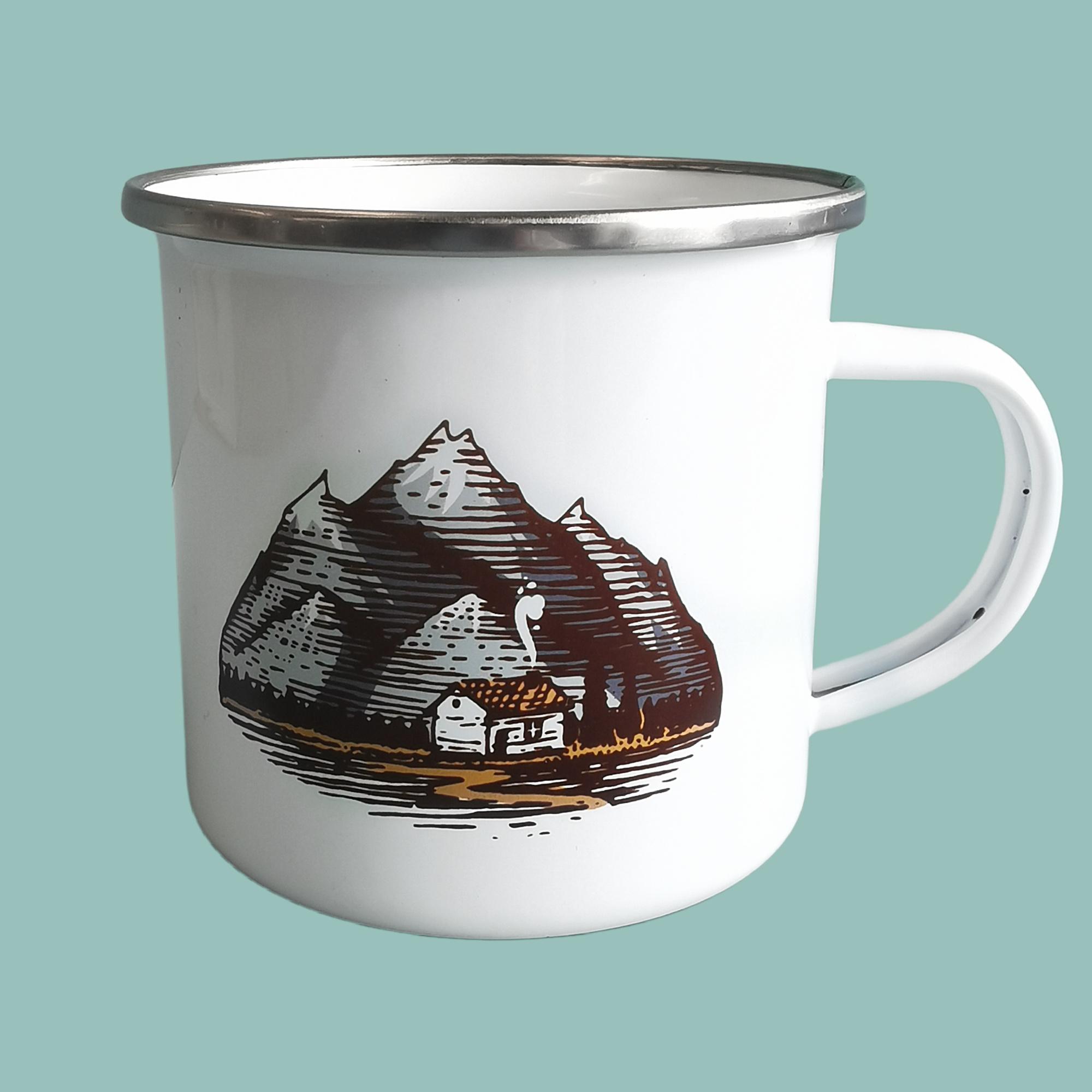 Mountain Bothy Enamel Mug