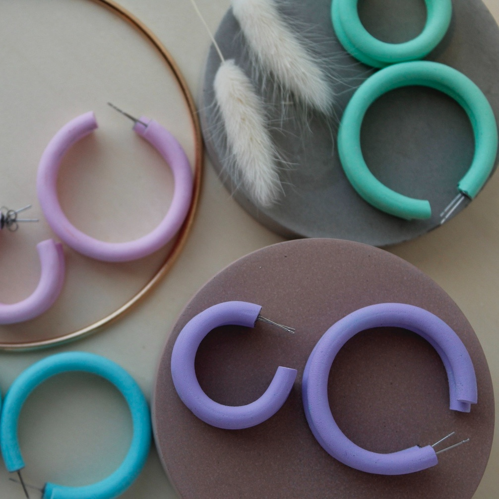 Pastel Hoops by Wear With Grace