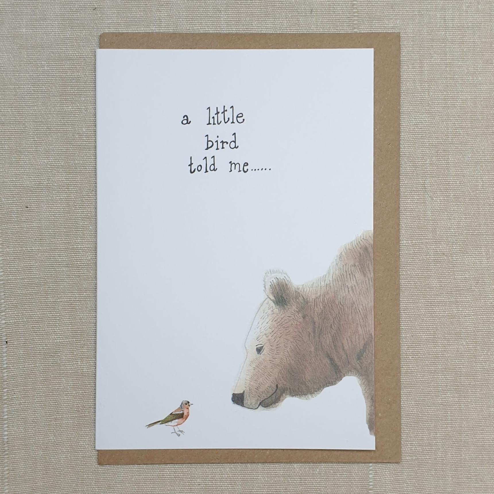 Card - A Little Bird