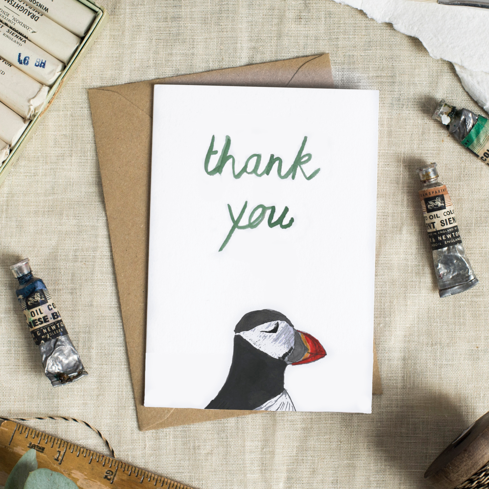 Card - Thank You Puffin