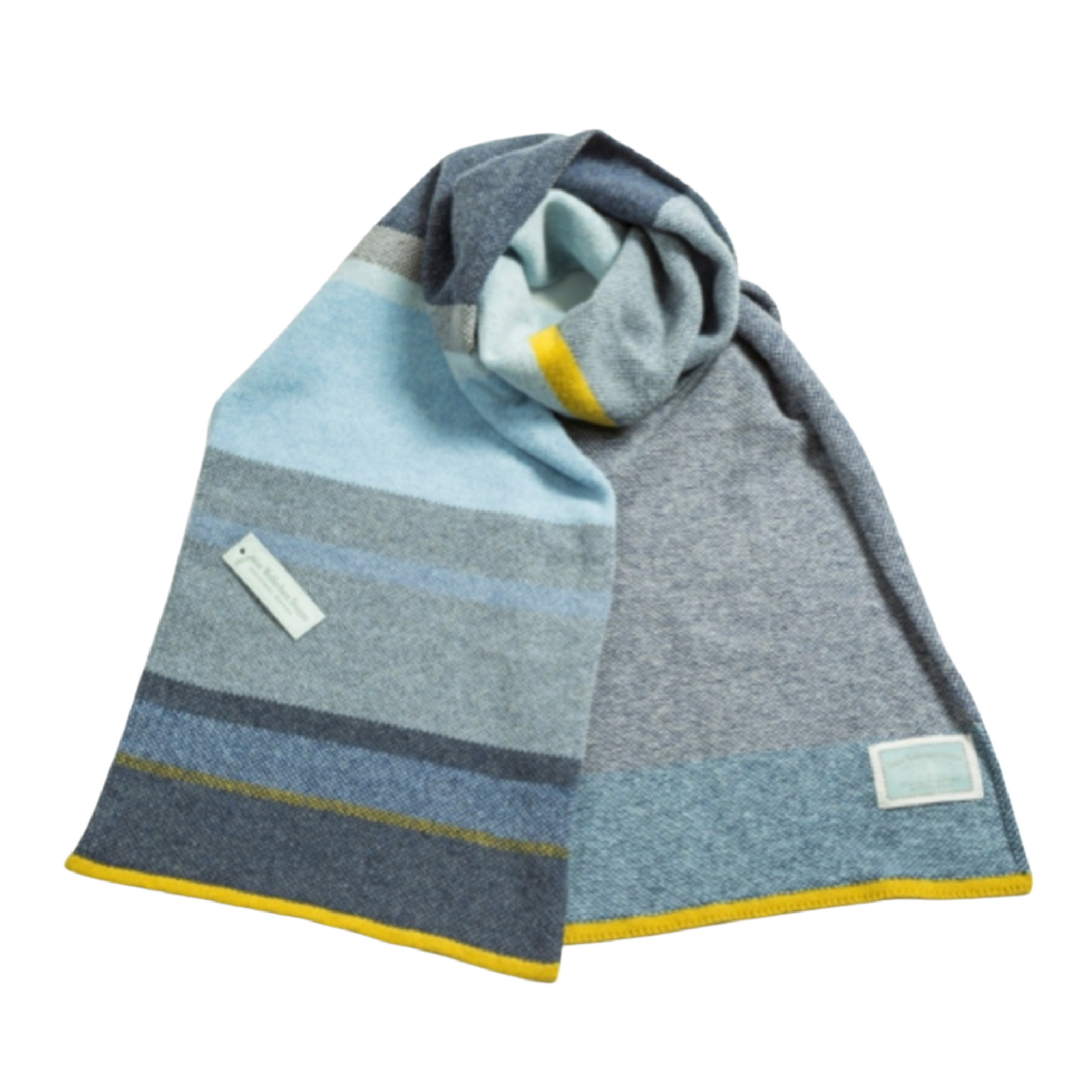 Seascape Lambswool Scarf by Louise Wedderburn