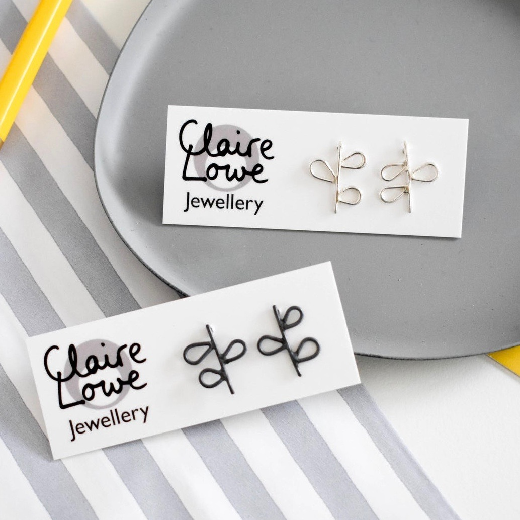 Leafy Studs by Claire Lowe
